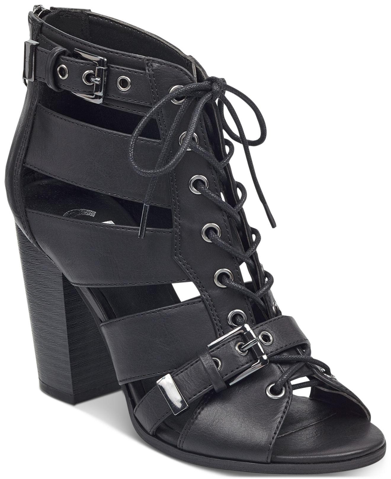 G by Guess Portlyn Dress Sandals in Black - Lyst