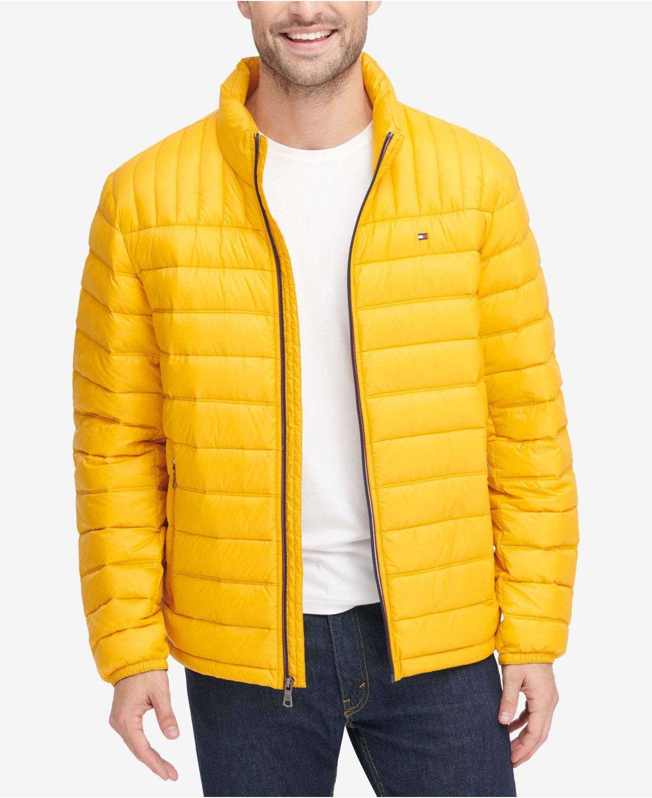 21f4180fa Men's Yellow Down Quilted Packable Logo Jacket
