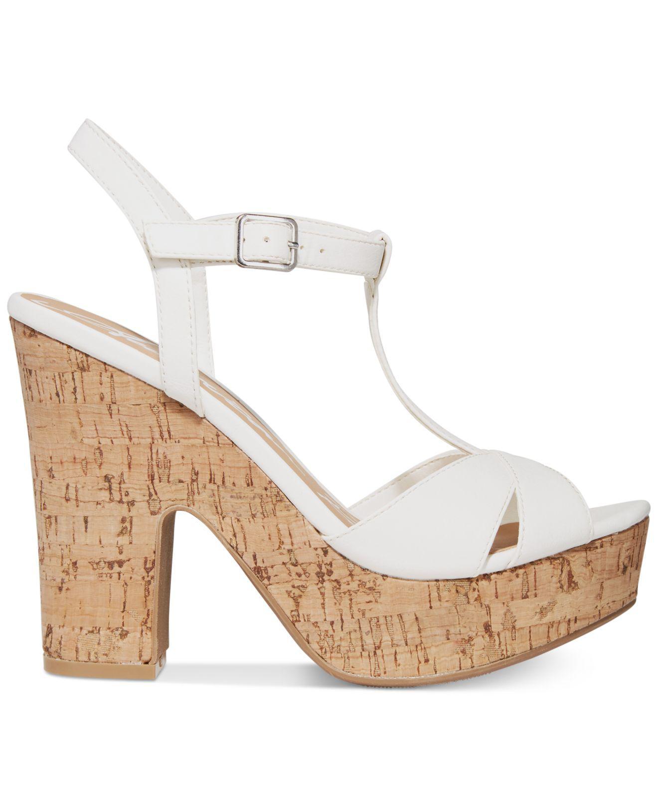 42d818c9d5d Lyst - American Rag Jamie T-strap Platform Dress Sandals