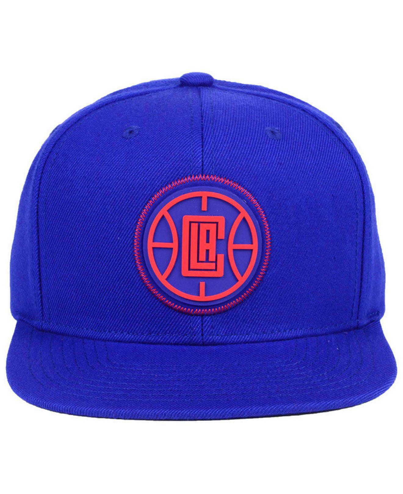 separation shoes fece3 e83dd Lyst - Mitchell   Ness Los Angeles Clippers Zig Zag Snapback Cap in Blue  for Men