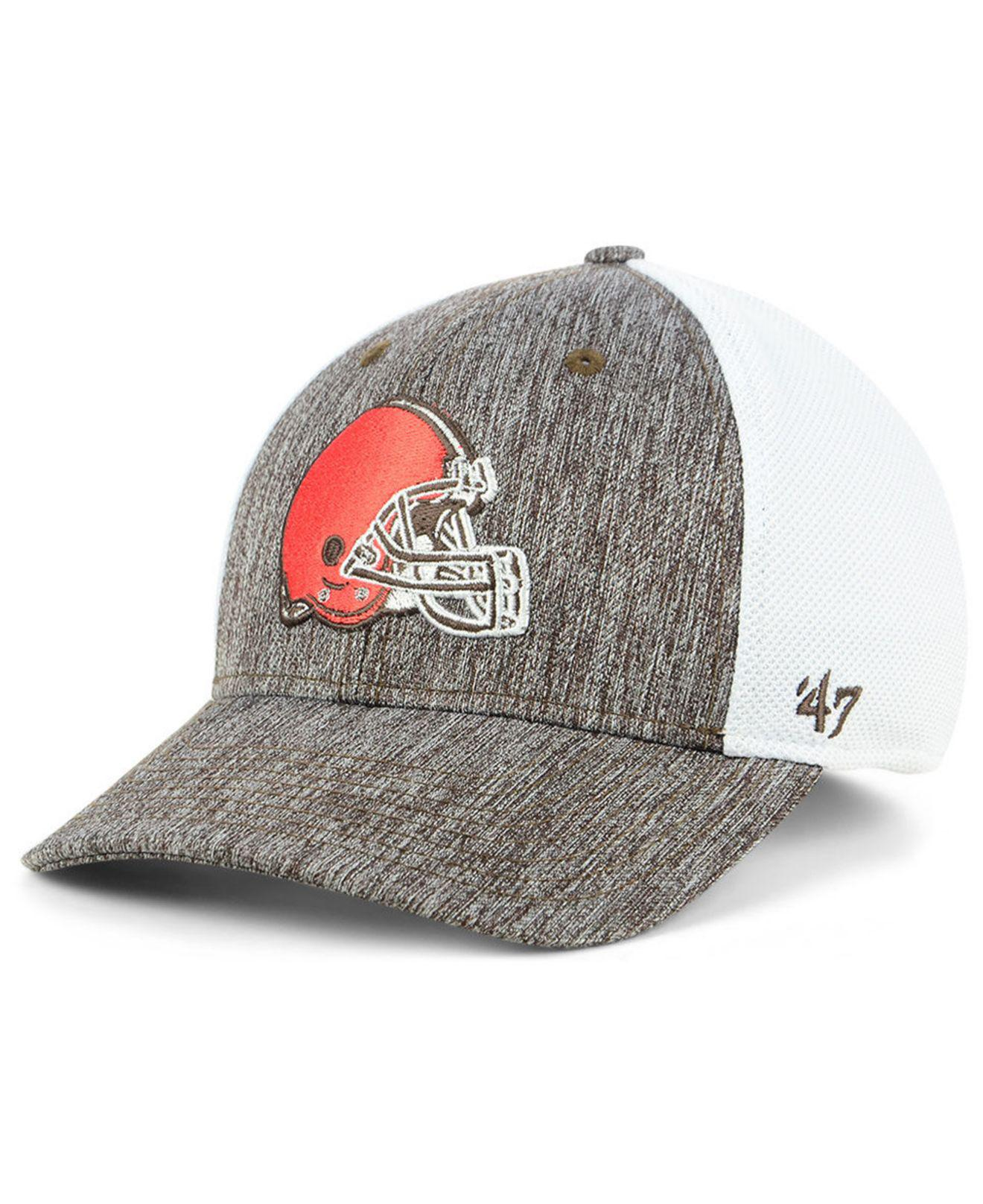 bbf7fc58bea9c Lyst - 47 Brand Cleveland Browns Hazy Flex Contender Stretch Fitted ...