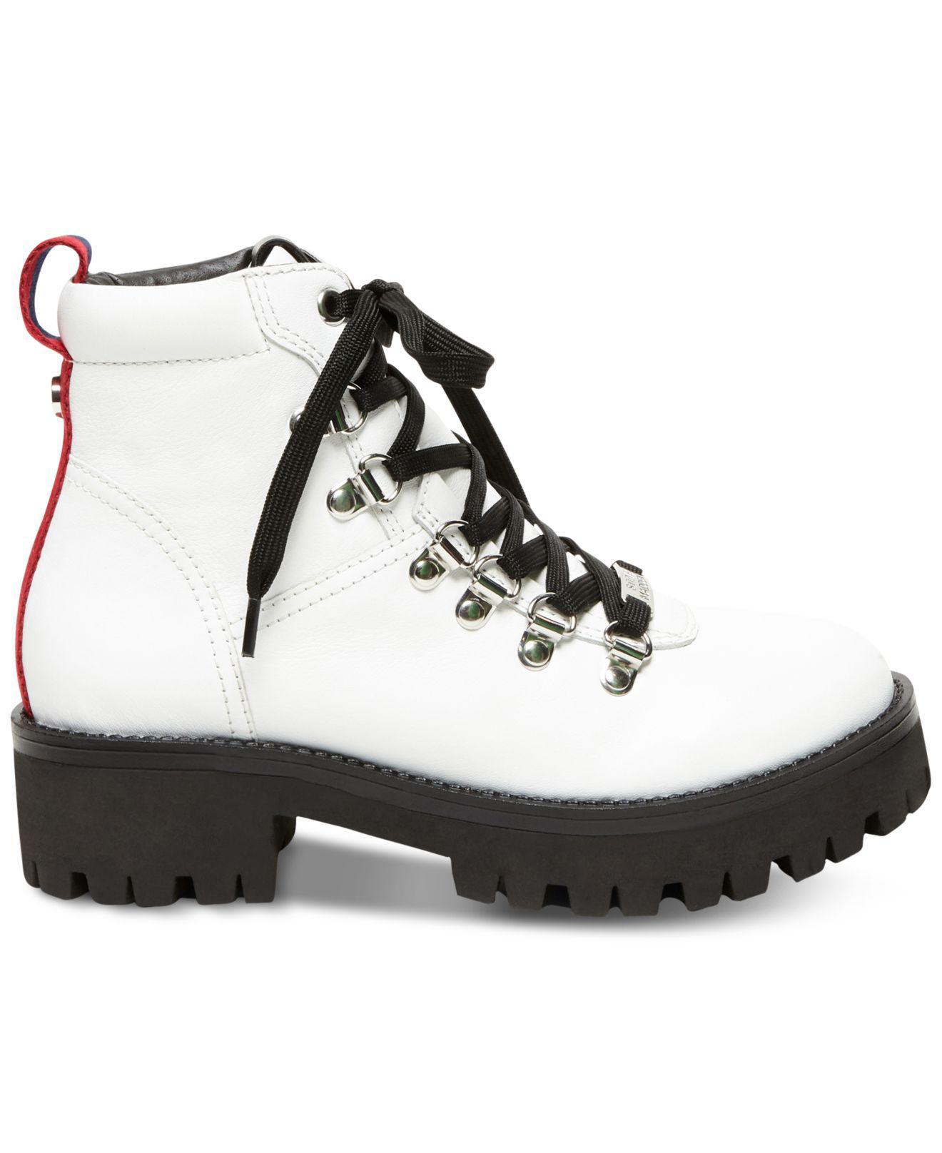 0b5f2ddaa10 Steve Madden White Bam Hiker Boot