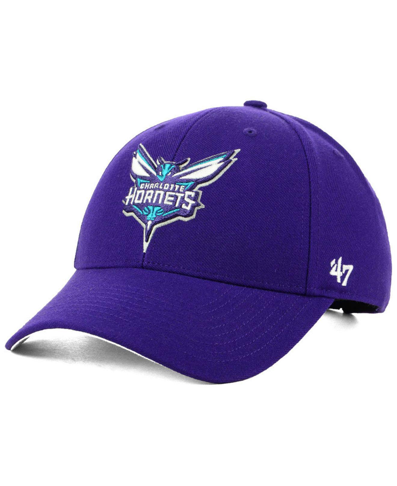 ef7612d7c38 Lyst - 47 Brand Charlotte Hornets Team Color Mvp Cap in Purple for Men