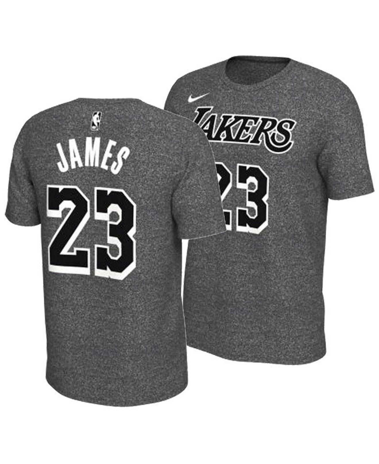 02fc61c6b98 Lyst - Nike Lebron James Los Angeles Lakers Marled Player T-shirt in ...
