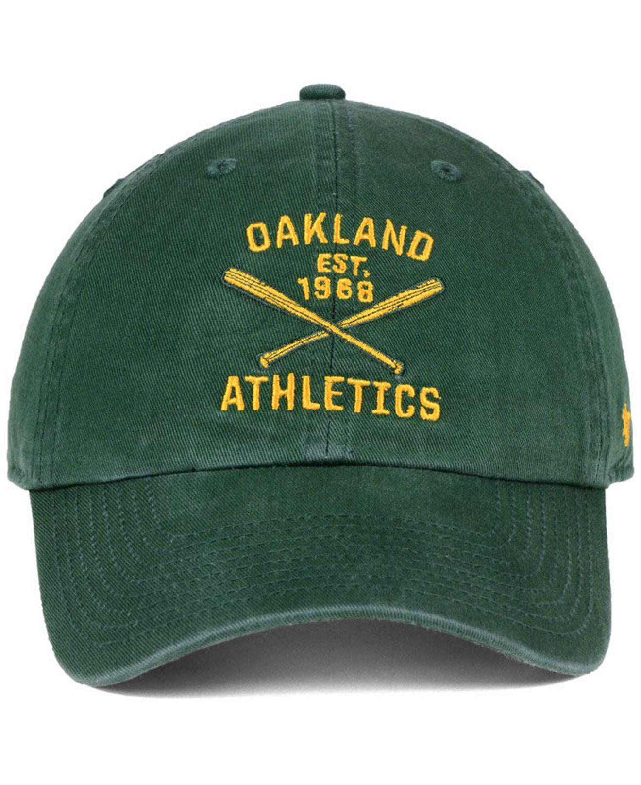best website 6dd38 1f6da 47 Brand Oakland Athletics Axis Clean Up Cap in Green for Men - Lyst