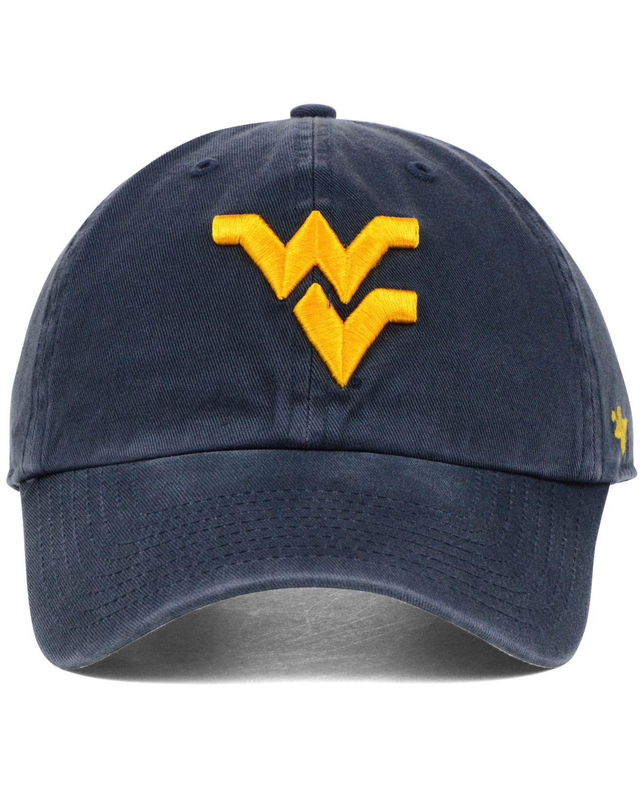 1649b966299d2 47 Brand West Virginia Mountaineers Ncaa Clean-up Cap in Blue for Men - Lyst