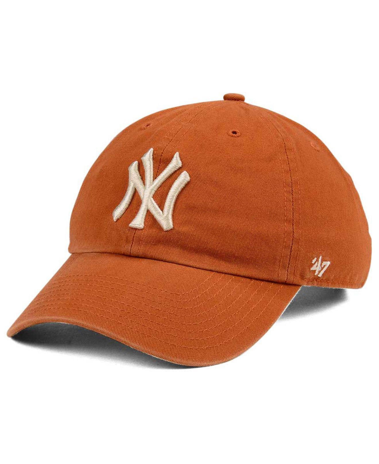 508ae03e3d4 Lyst - 47 Brand New York Yankees Rust Clean Up Cap in Brown for Men