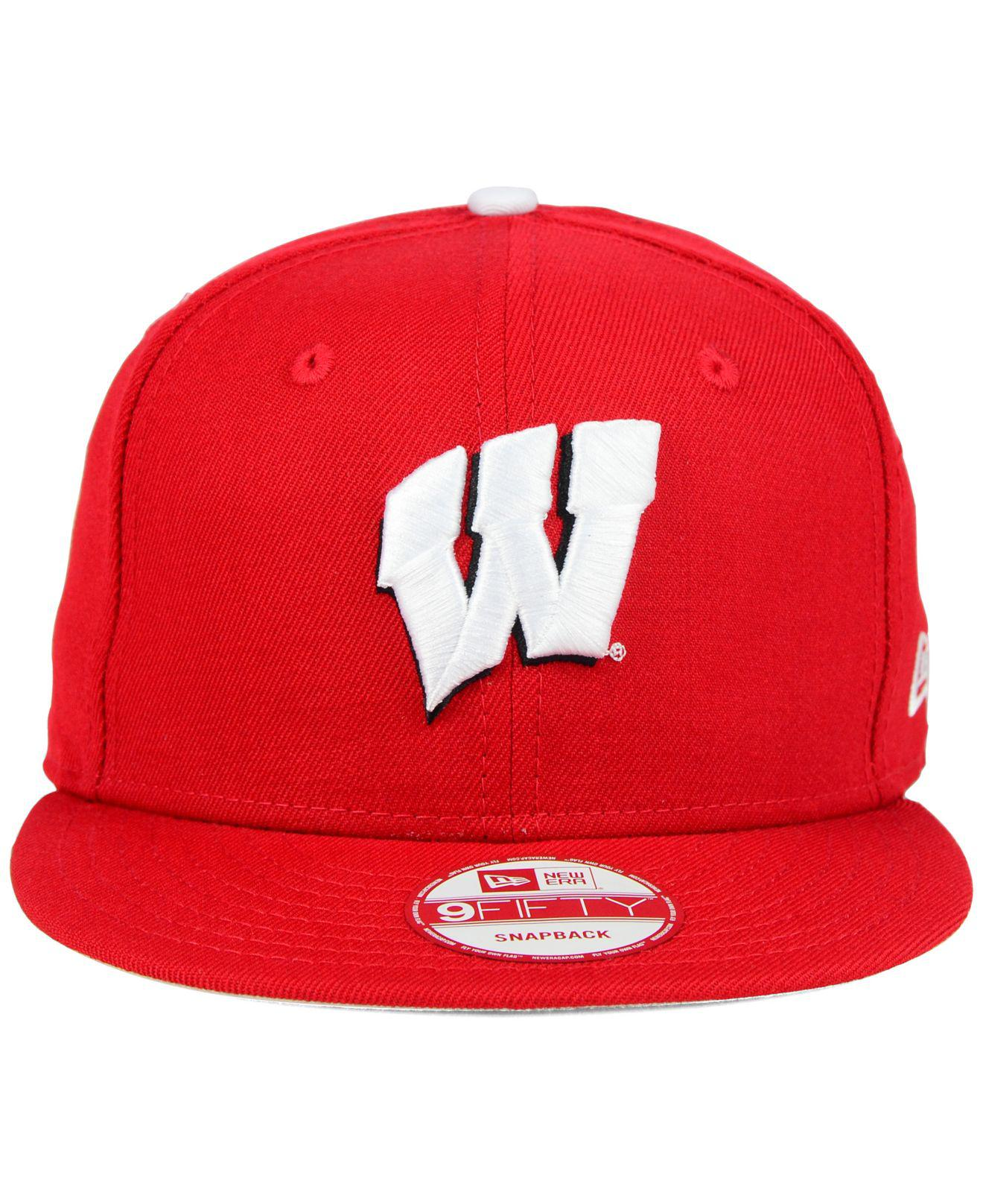 quality design ea9e2 4e8d7 Lyst - KTZ Wisconsin Badgers Core 9fifty Snapback Cap in Red for Men