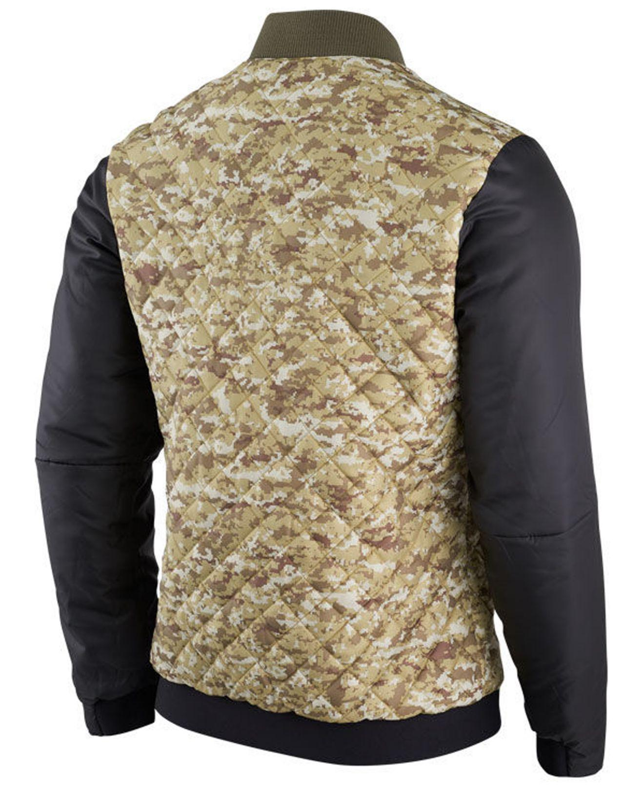 pretty nice 3ab91 452f3 Nike Green New York Giants Salute To Service Bomber Jacket for men