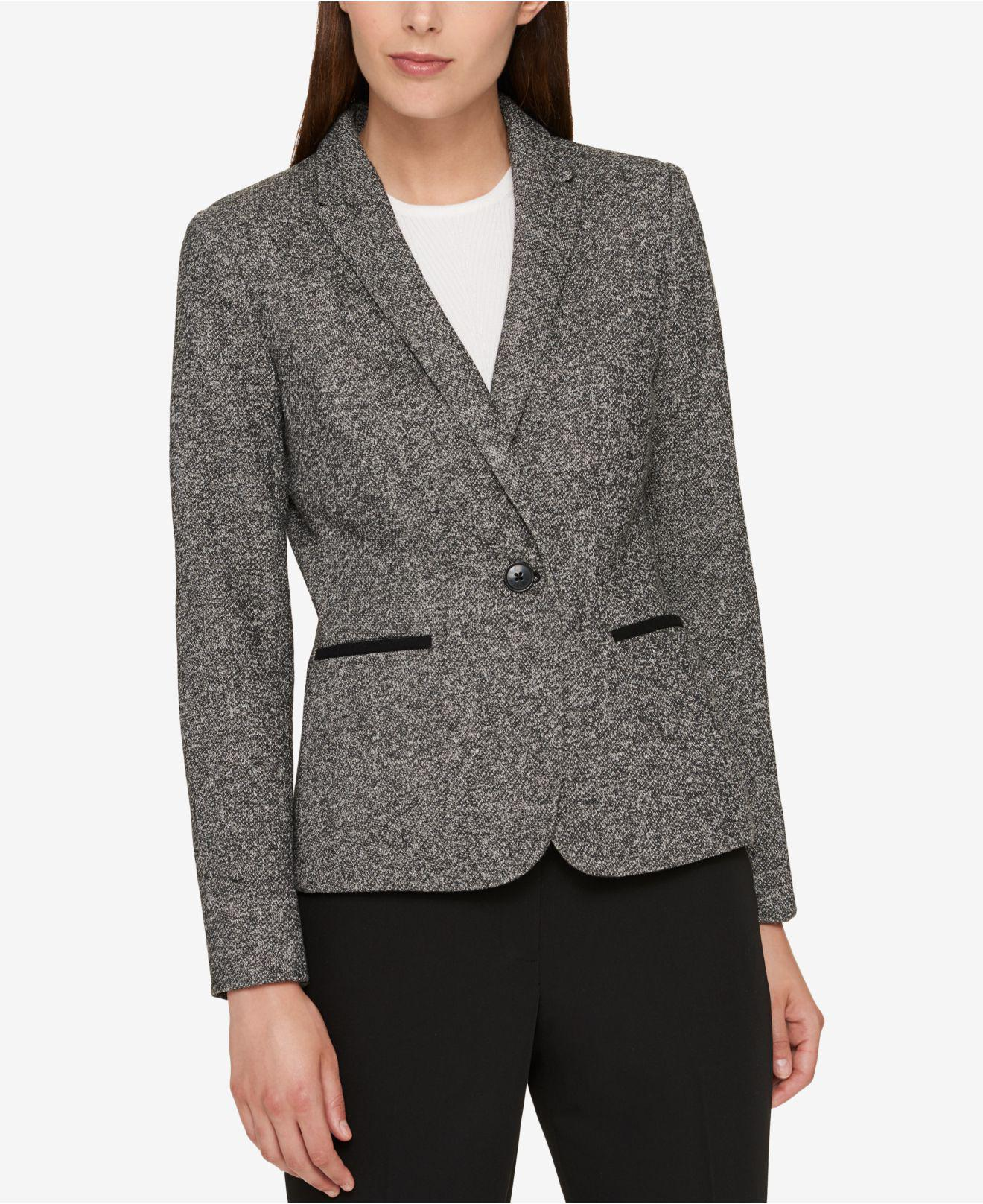b00539765e4f4 Tommy Hilfiger One-button Elbow-patch Blazer in Gray - Lyst