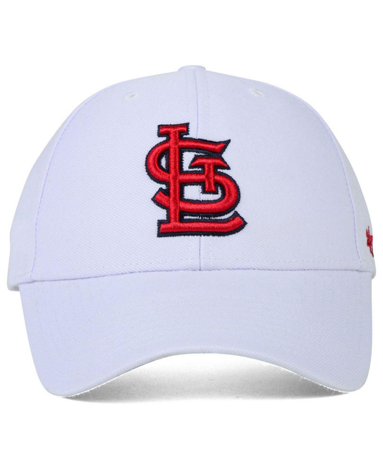 huge discount d4efc 280f9 Lyst - 47 Brand St. Louis Cardinals Mvp Curved Cap in White for Men