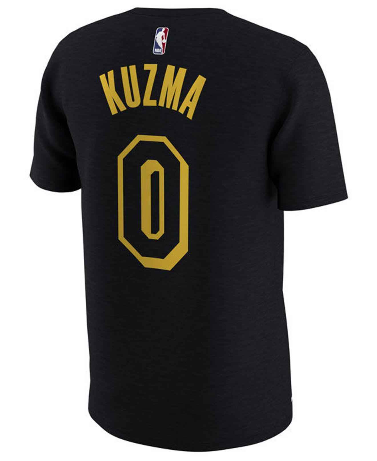 wholesale dealer 67ff0 f4932 Men's Black Kyle Kuzma Los Angeles Lakers City Player T-shirt