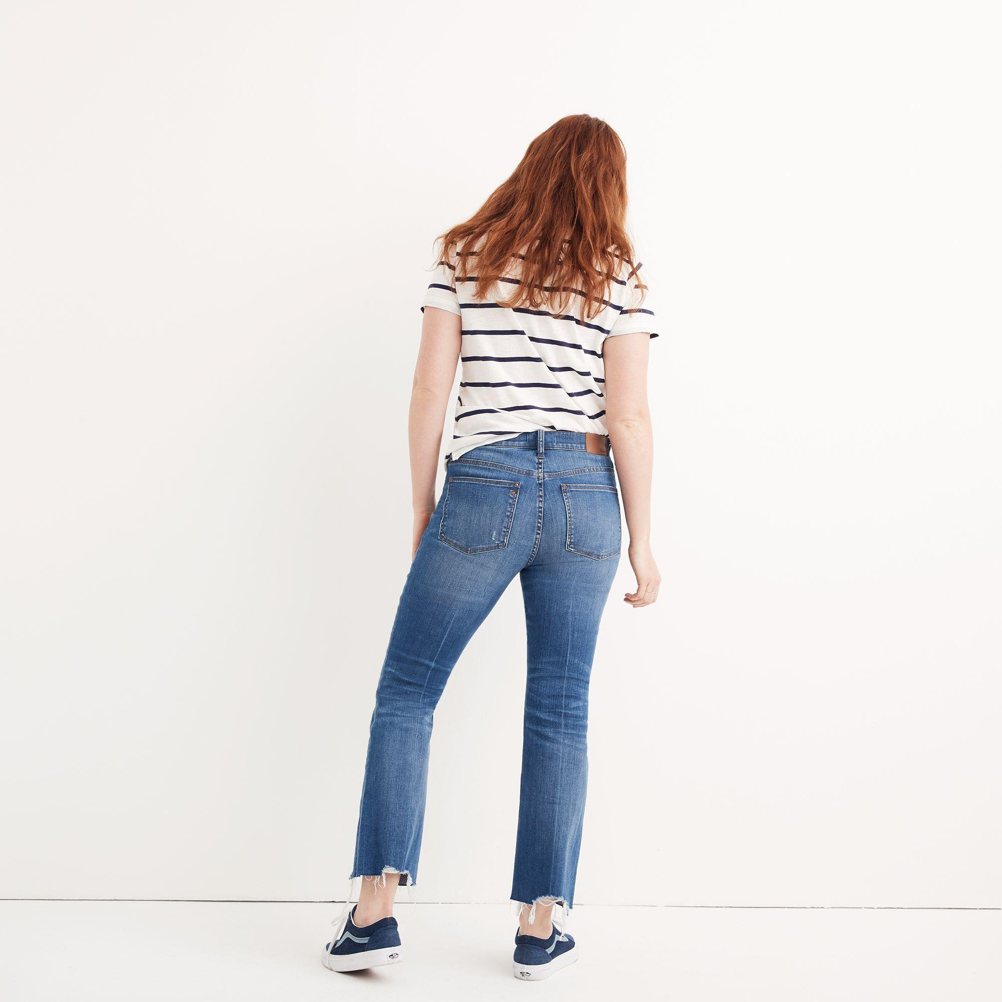 Madewell Cotton Tall Cali Demi-boot Jeans: Destructed-hem Edition in Blue