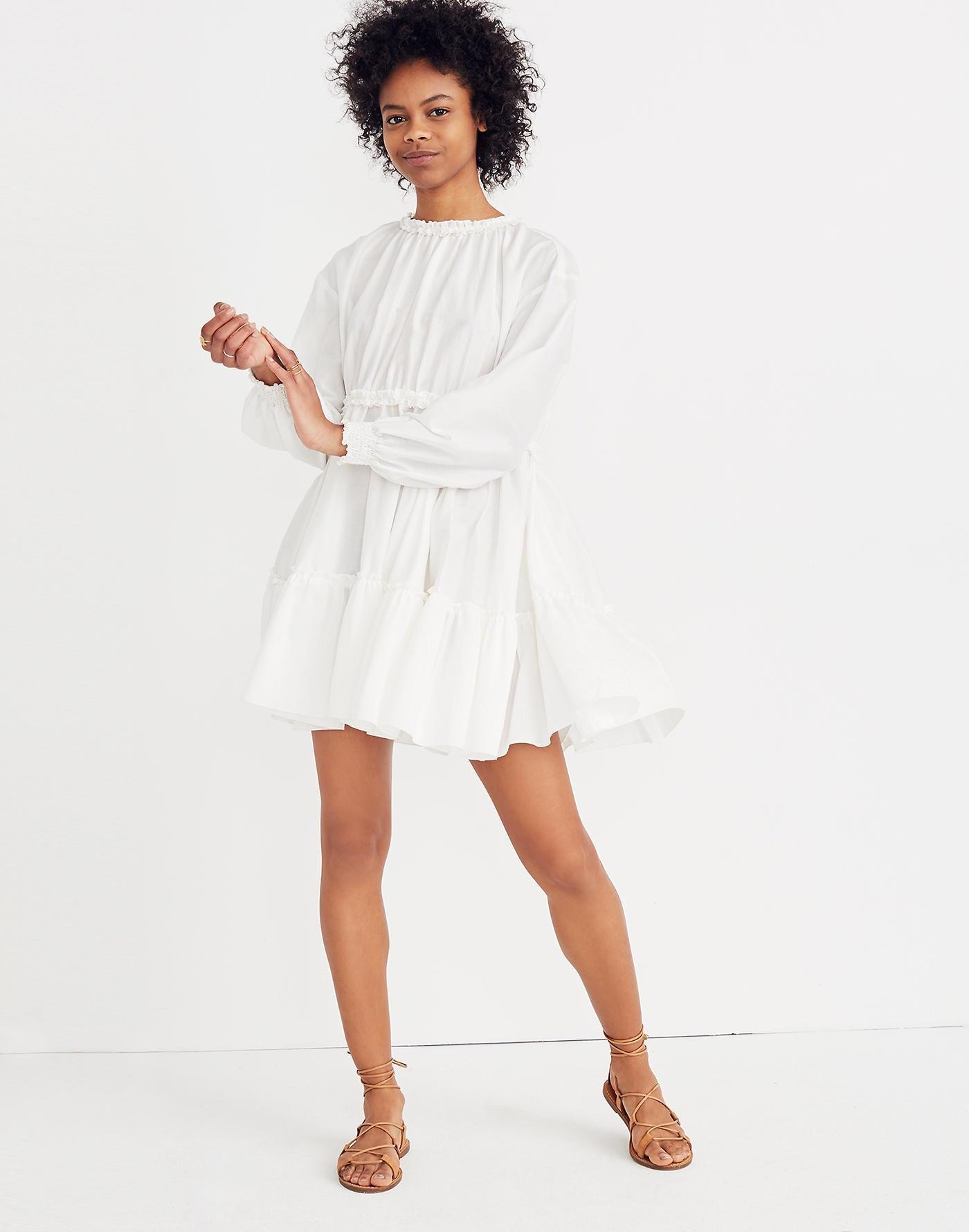 eb64393424 Lyst - Madewell Karen Walker Azolla Dress in White
