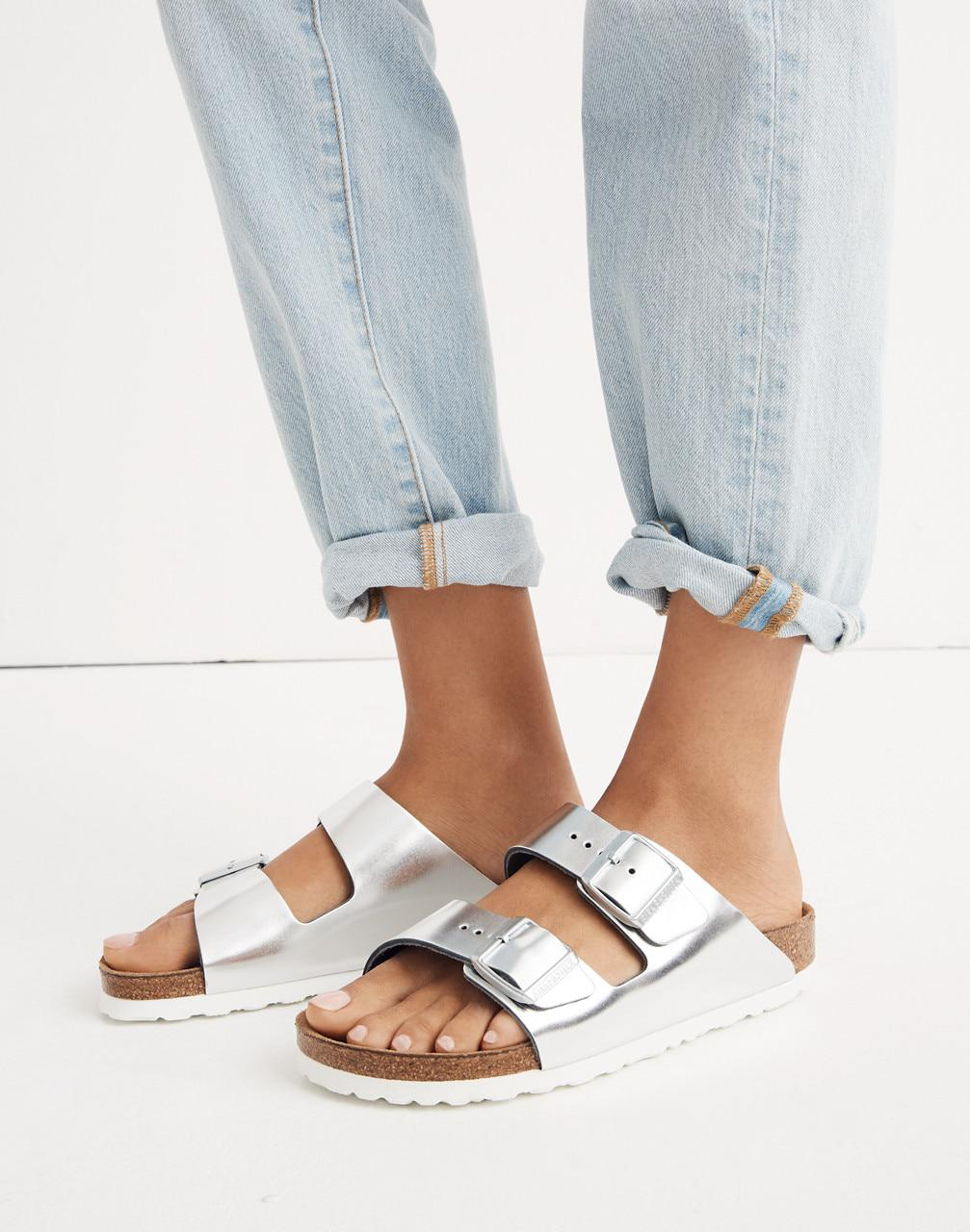 f5e33f68d8d Lyst - Madewell Birkenstock Arizona Sandals In Black Leather in Black -  Save 35.55555555555556%