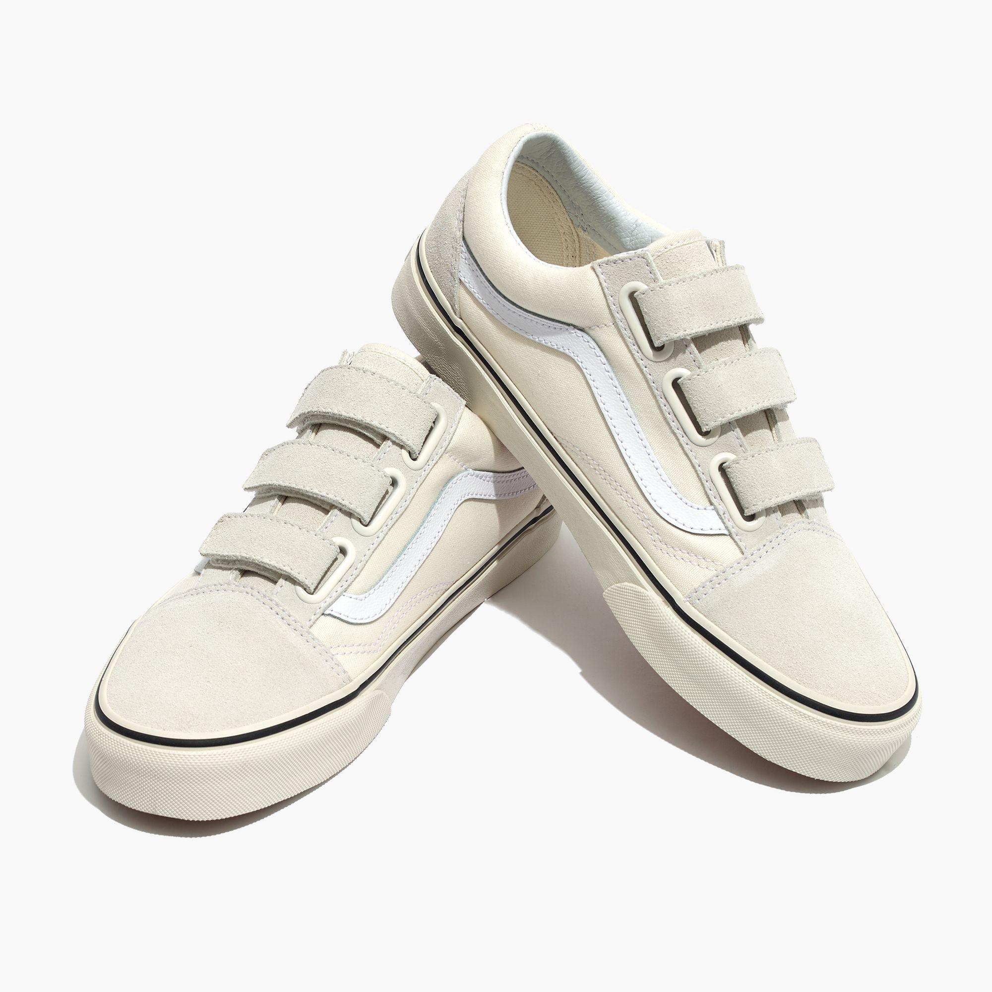 Madewell Vans Unisex Old Skool Velcro Sneakers In -9543