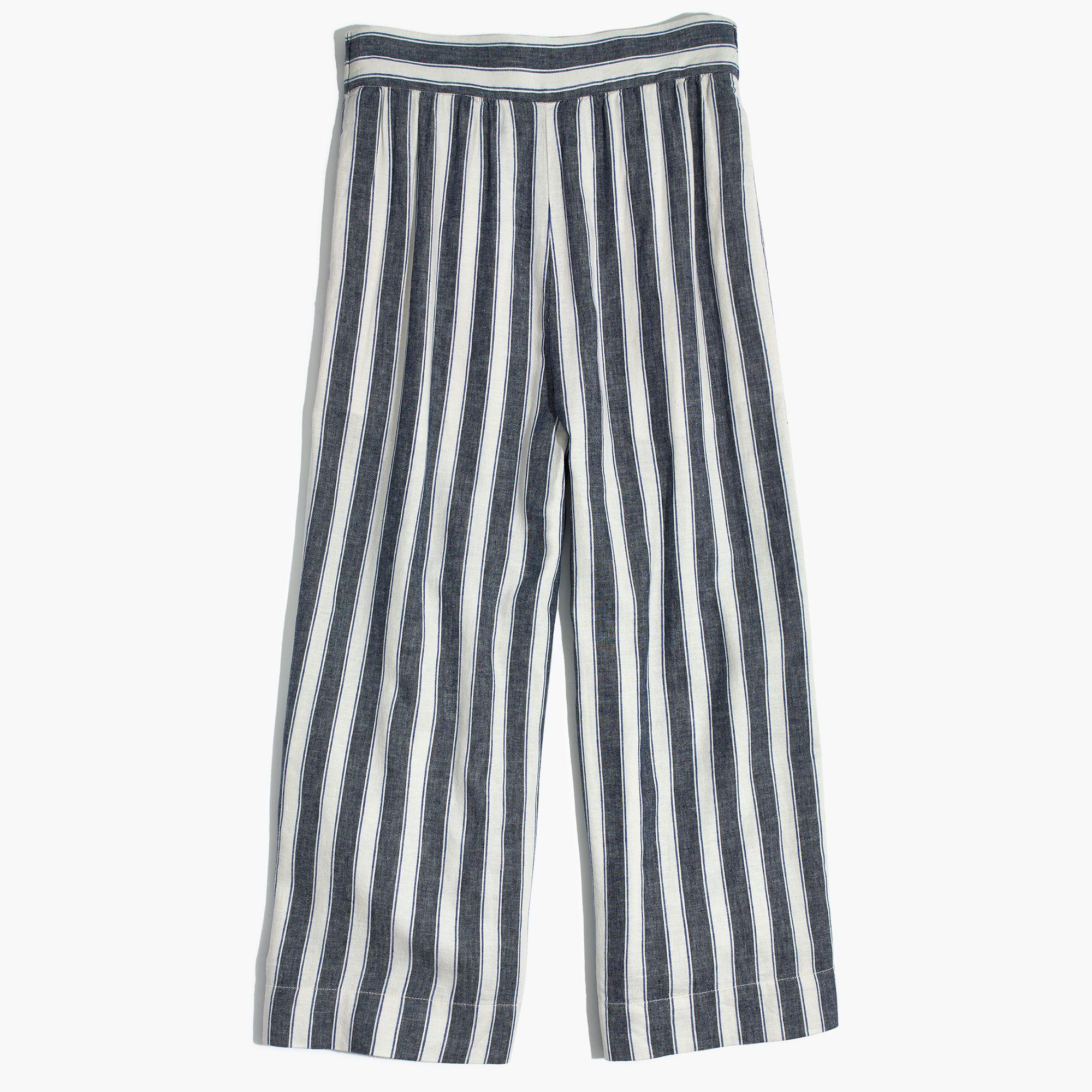 b0db91d219 Lyst - Madewell Huston Pull-on Crop Pants In Stripe in Blue