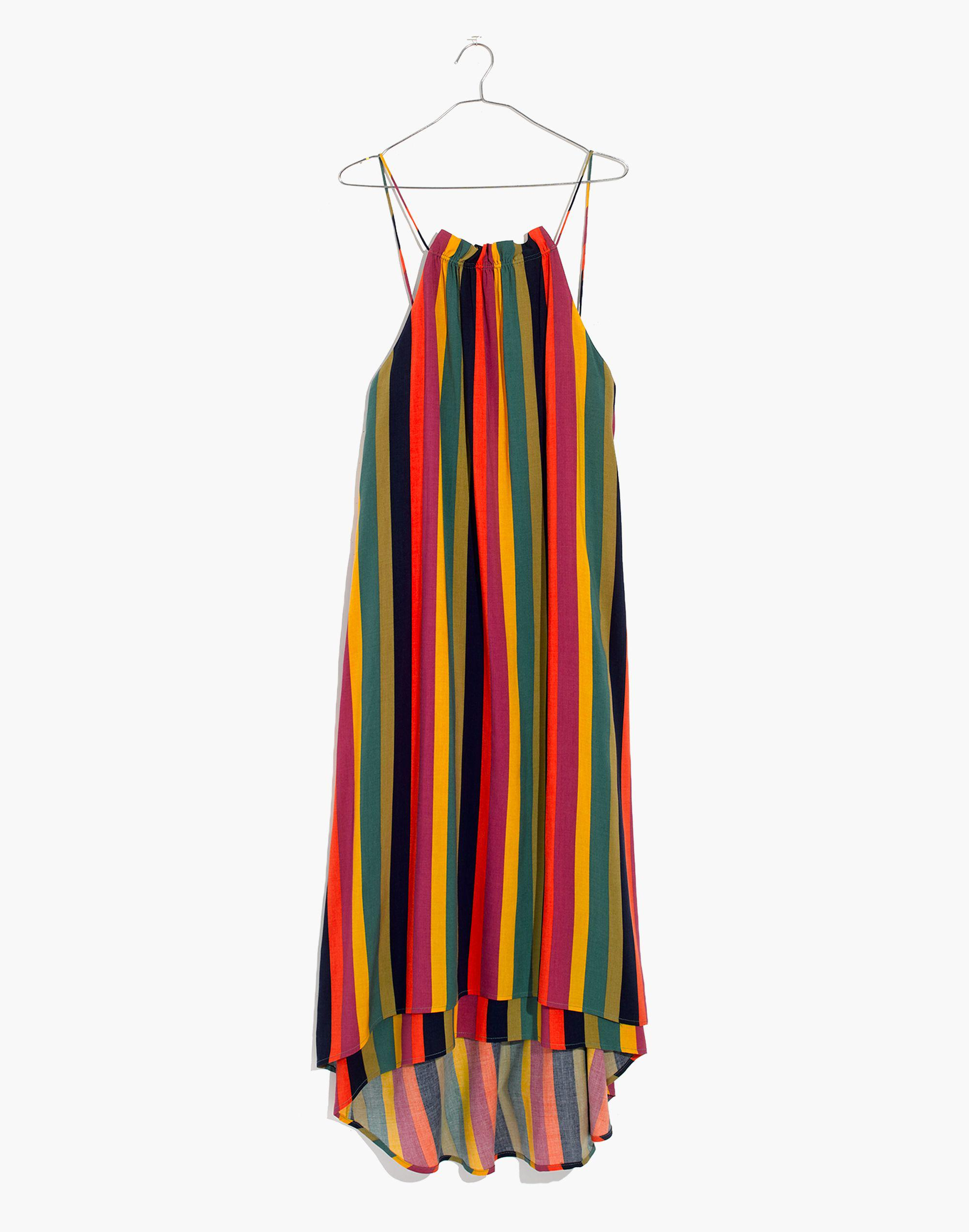 9a38cd9143 Madewell X Tavik® Lucca Cover-up Dress In Rainbow Stripe in Red - Lyst