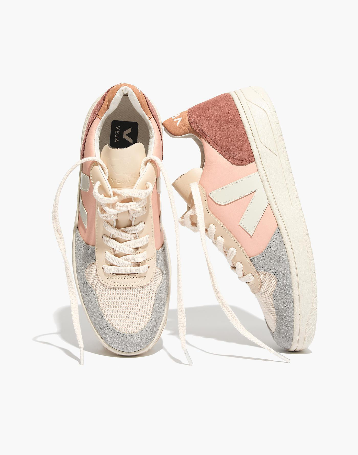 Madewell Leather Veja V-10 Sneakers In