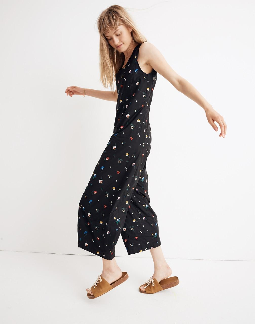 d71568d962e1 Madewell Caron Callahan Floral Morgan Jumpsuit in Black - Lyst