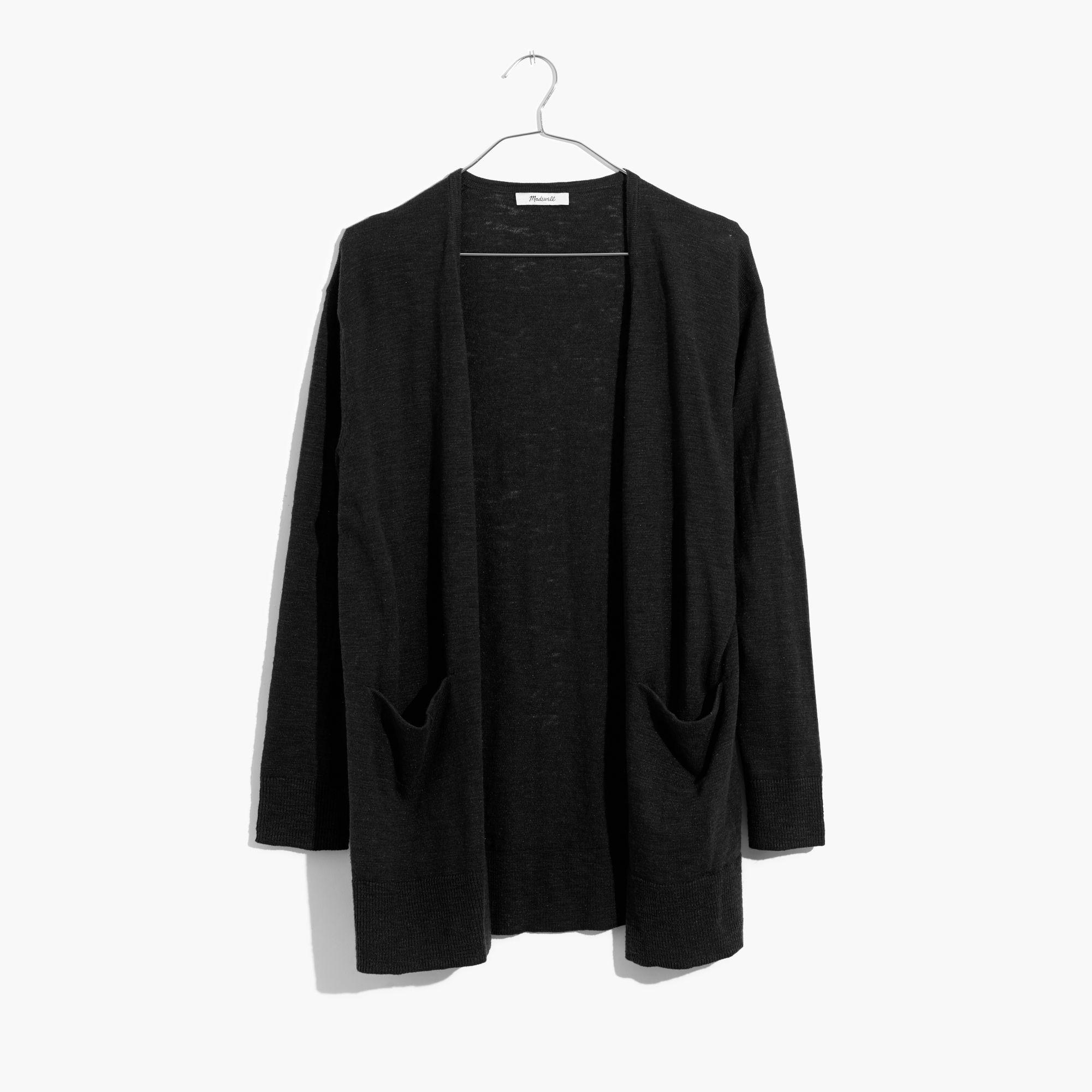 Madewell Summer Ryder Cardigan Sweater in Black | Lyst