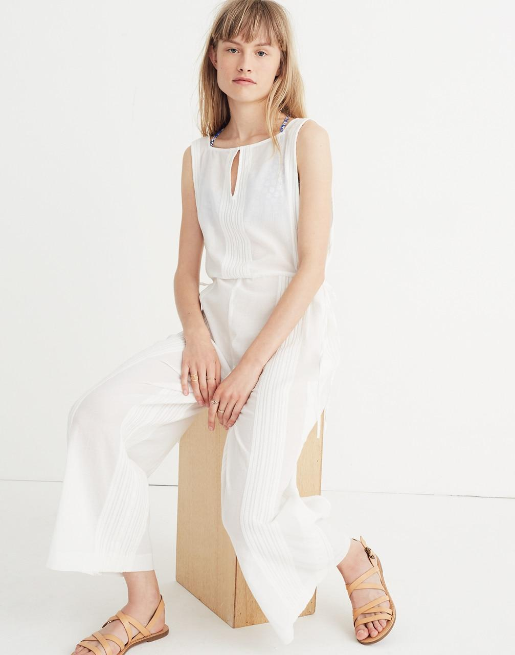 f4824f7e34a6 Madewell Esperanza Cover-up Jumpsuit in White - Lyst