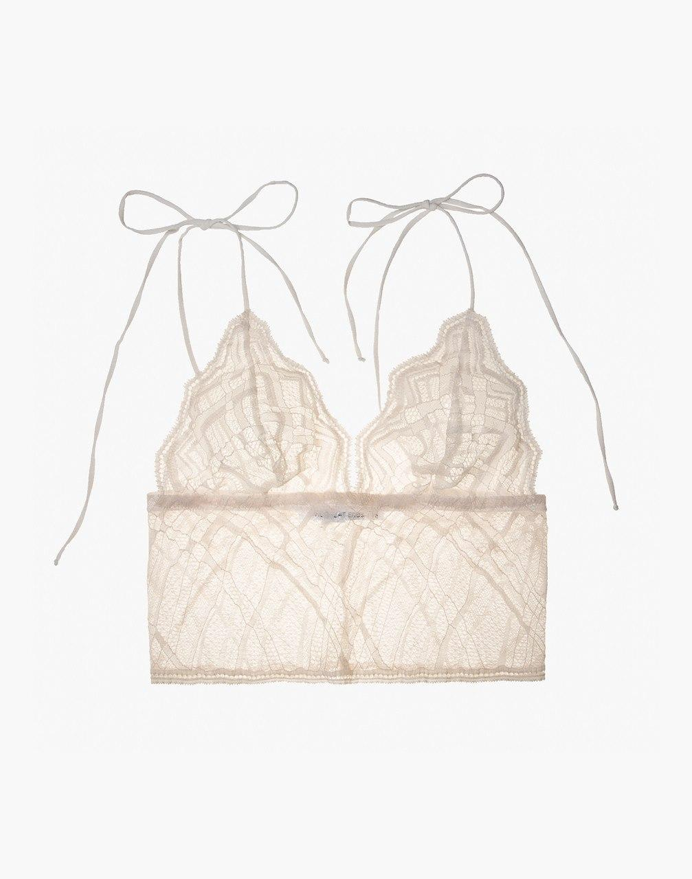 3e3abe91bf11c Lyst - Madewell The Great Eros Lace Sonata Longline Bralette in White