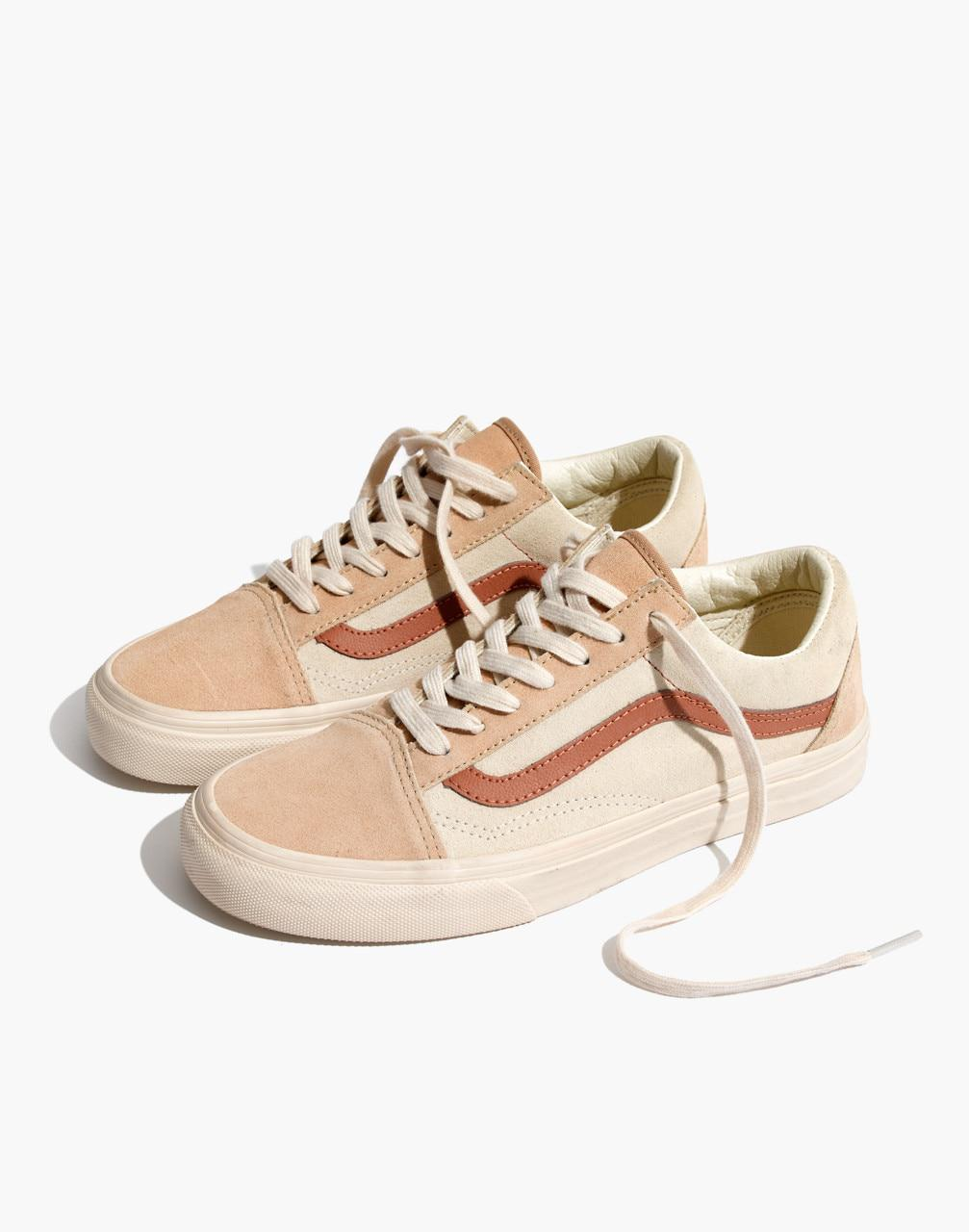 c0e24bdb120 Madewell X Vans Unisex Old Skool Lace-up Sneakers In Camel ...