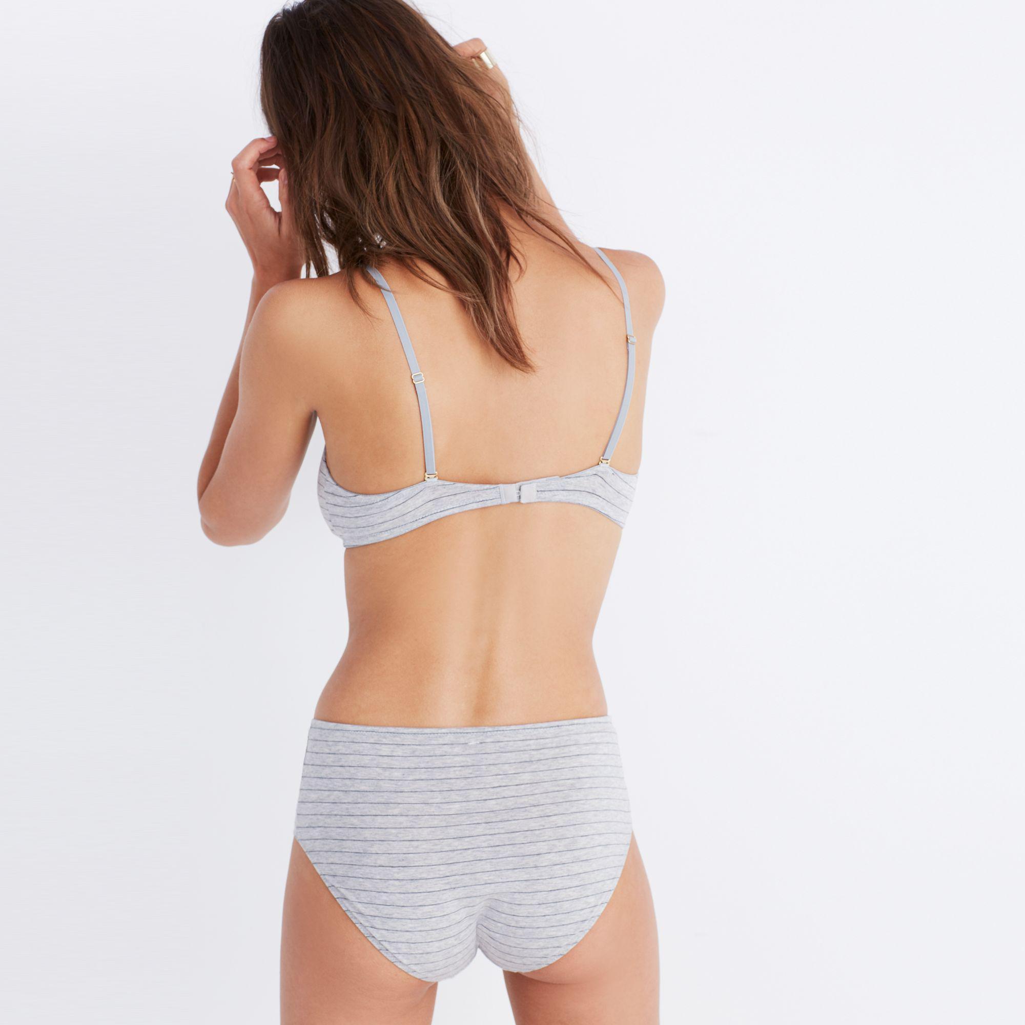 bbc2837580 Lyst - Madewell Cotton-modal® Mila Padded Bralette In Stripe