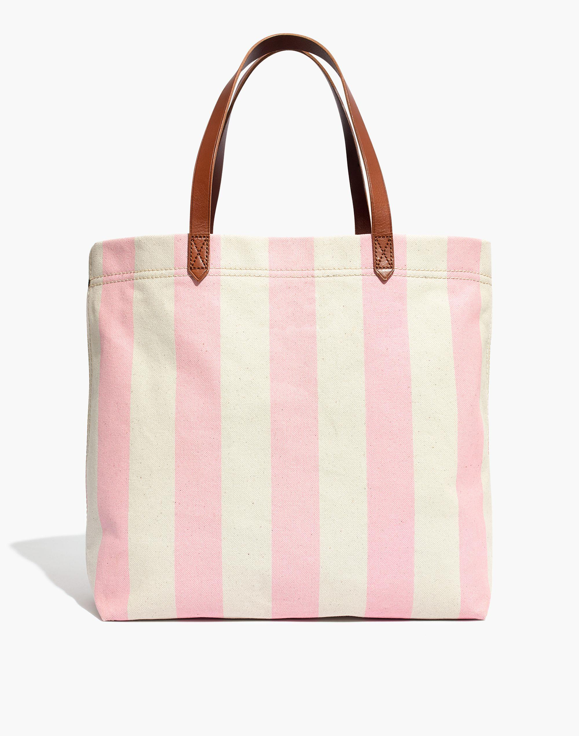 ab23fb83be42d Lyst - Madewell The Canvas Transport Tote In Stripe in Pink