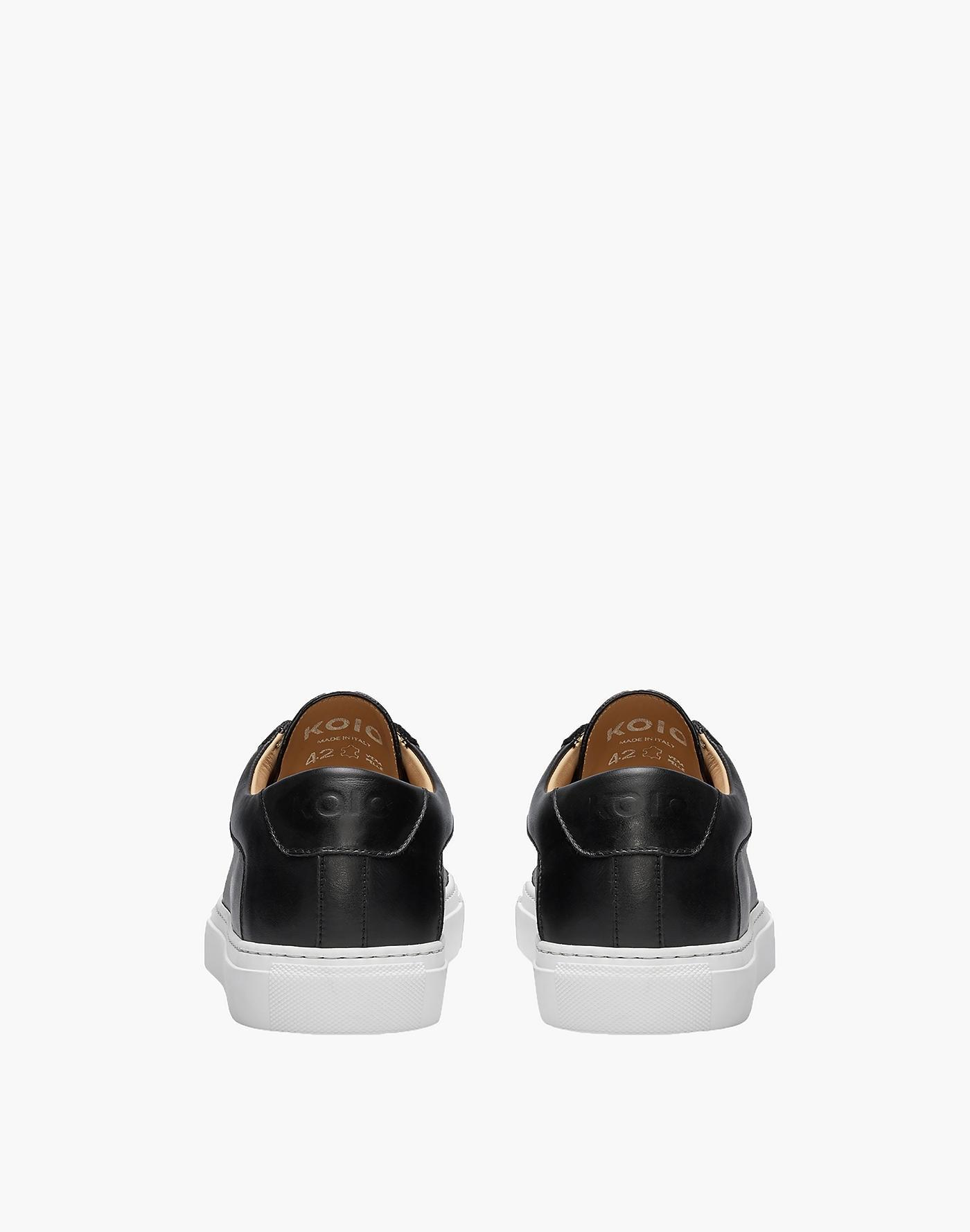 Madewell Koio Capri Onyx Low-top Sneakers In Black Leather
