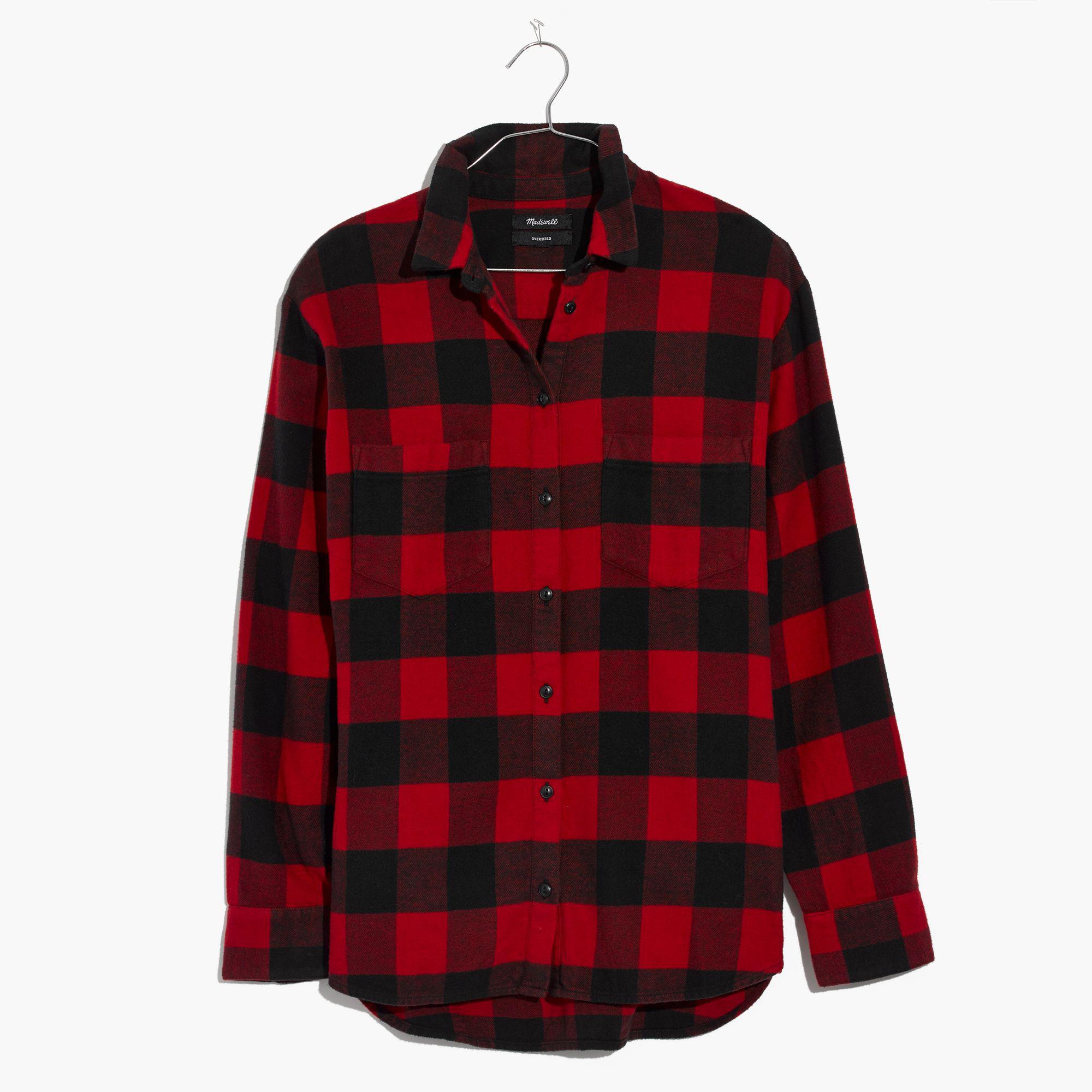 Lyst Madewell Flannel Oversized Ex Boyfriend Shirt In