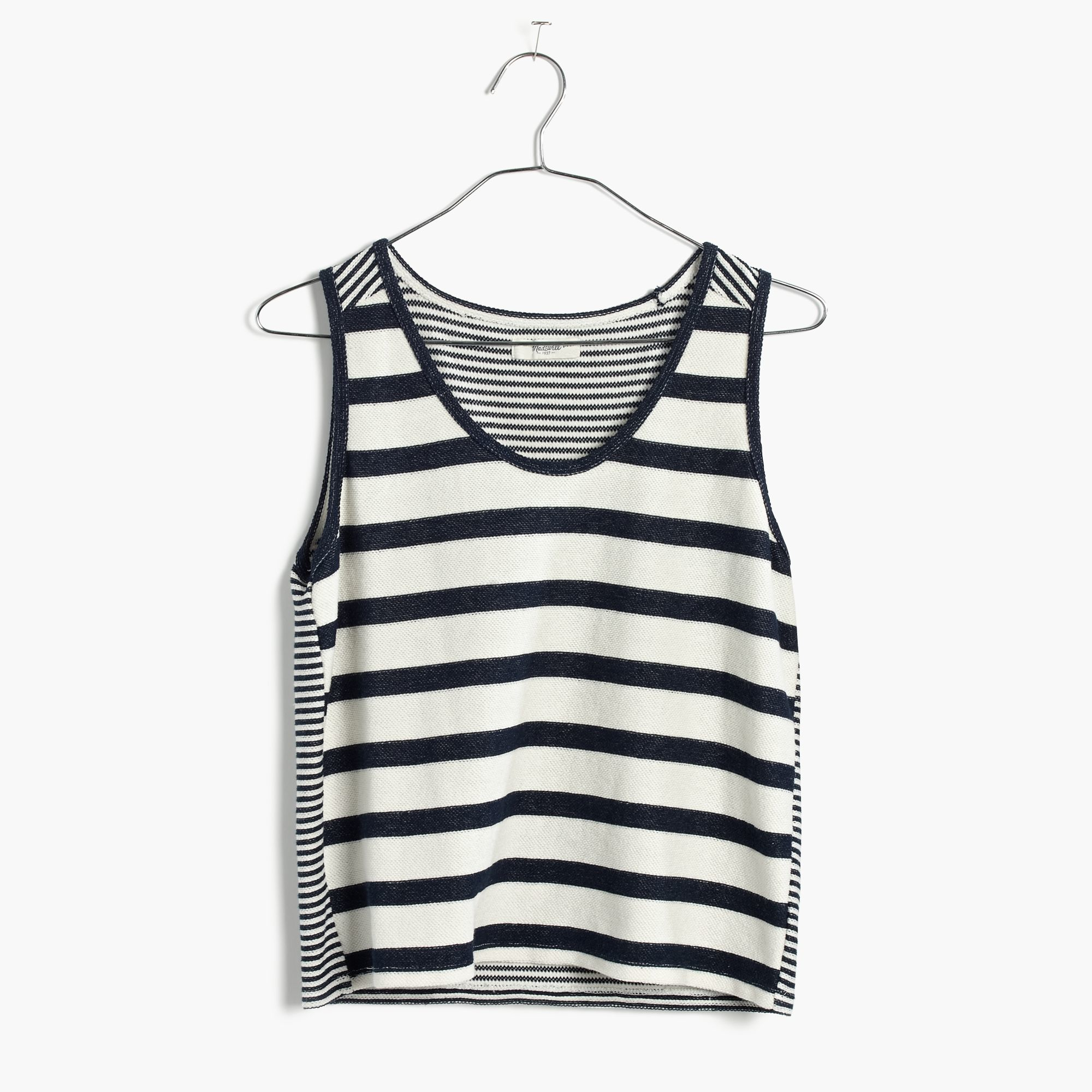 Lyst madewell coastland tank top in stripe in blue for Coastland mall jewelry stores