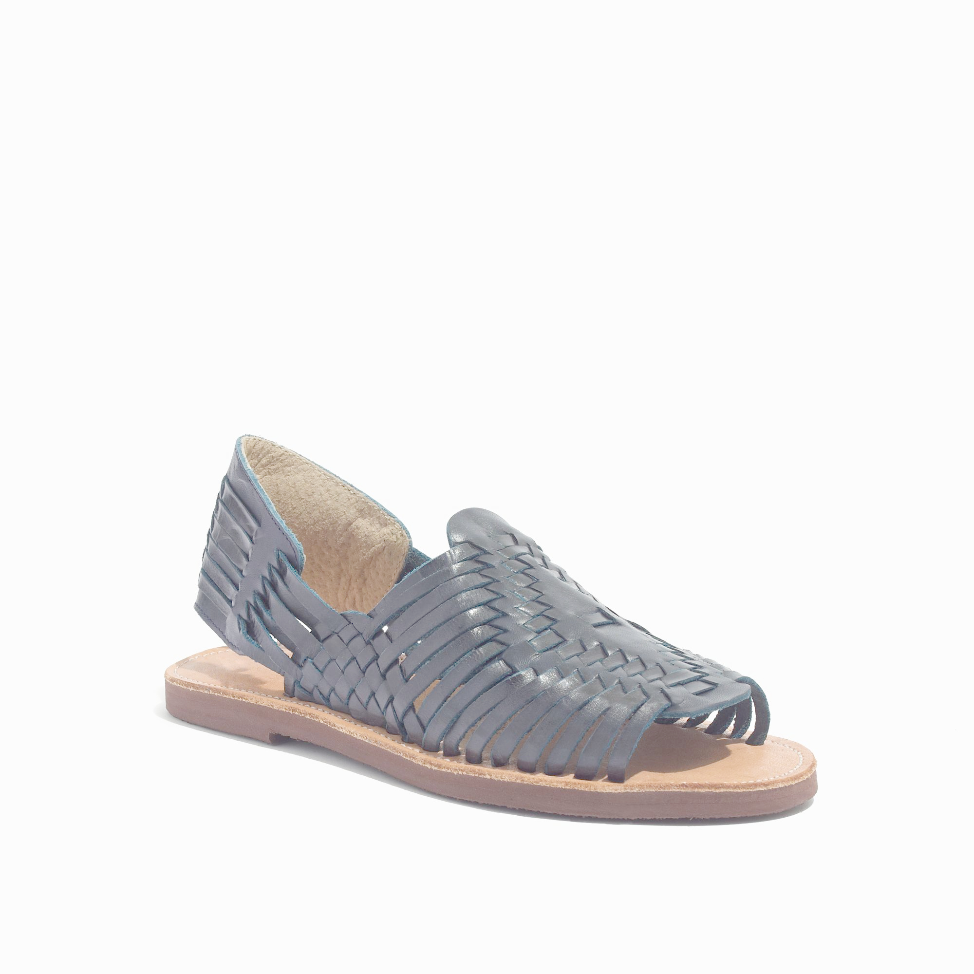 Madewell Chamula Chicen Open Toe Huarache Sandals In Gray