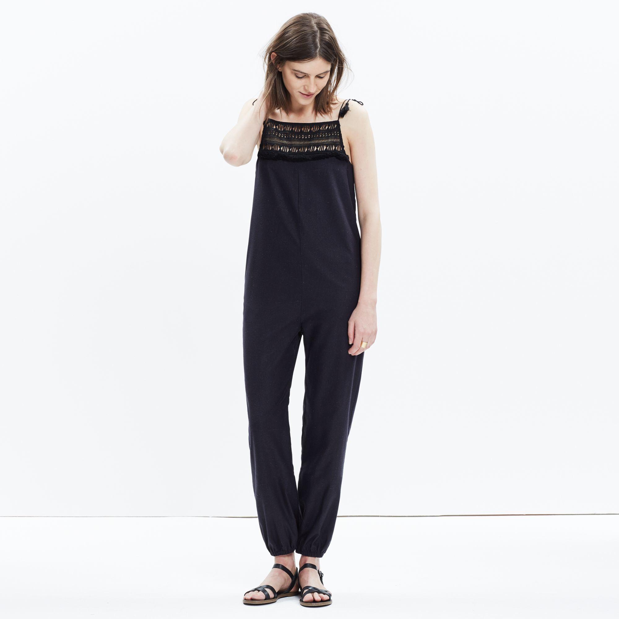 552fb4861438 Madewell Mirasol Fringed Jumpsuit in Black