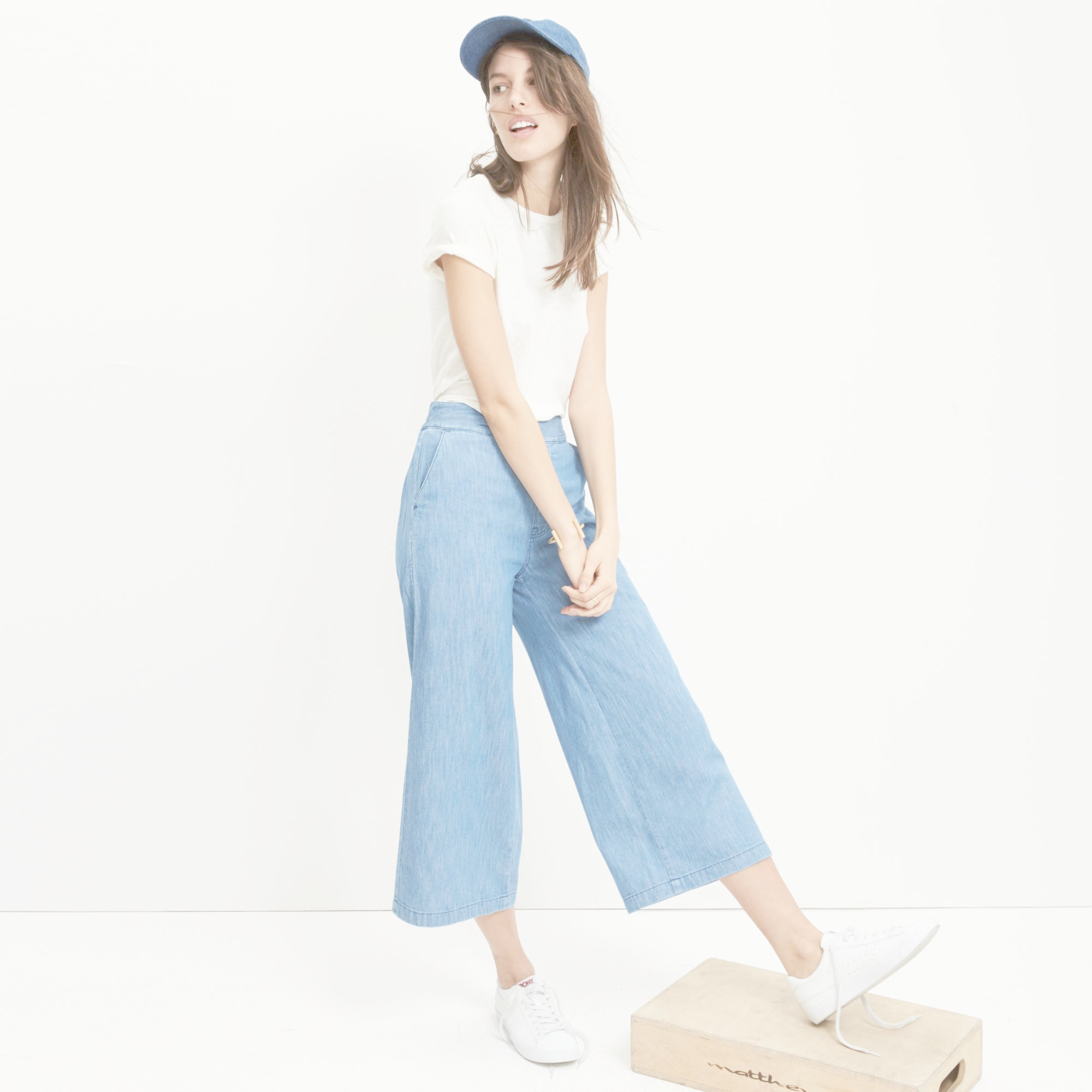 94812f7e75 Lyst - Madewell Atlantic Pull-on Crop Pants in Blue