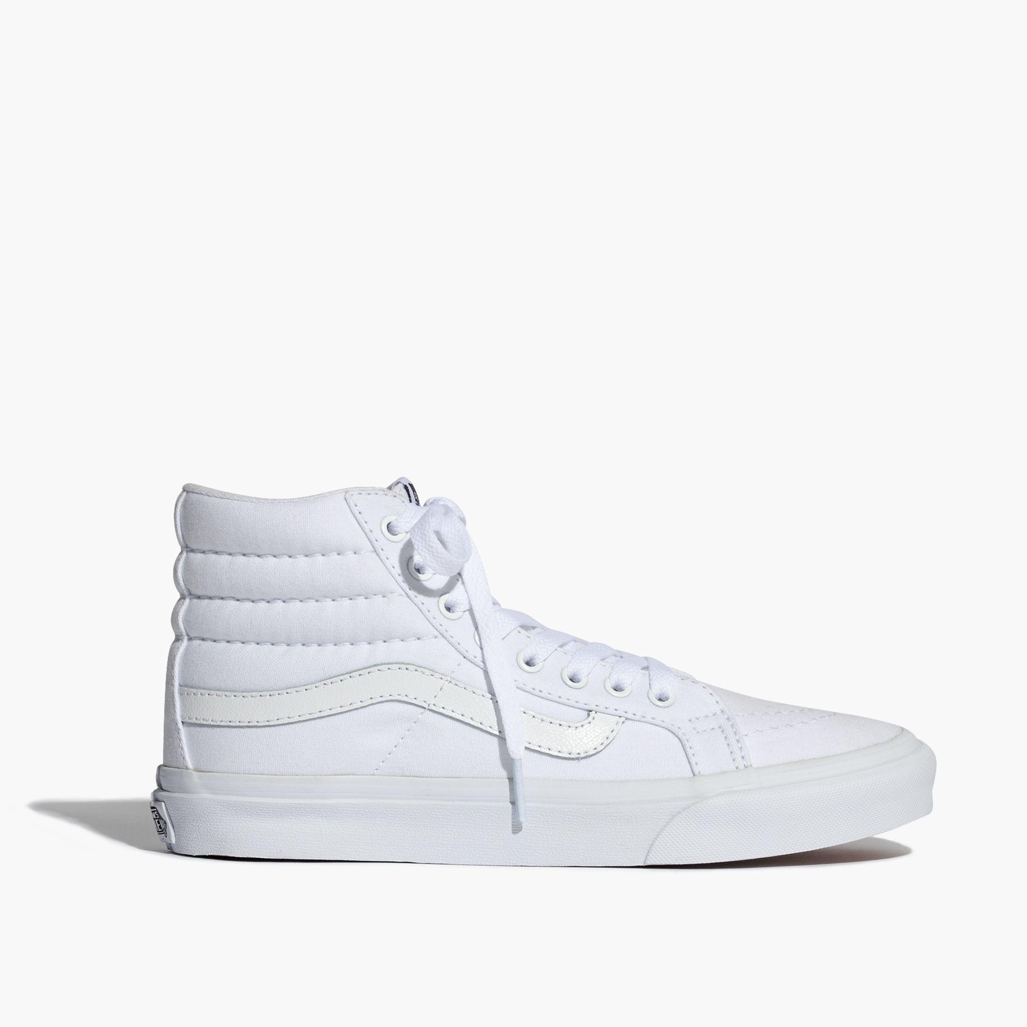 1be730673c263 Lyst - Madewell Vans® Sk8-hi Slim High-top Sneakers In Canvas in White