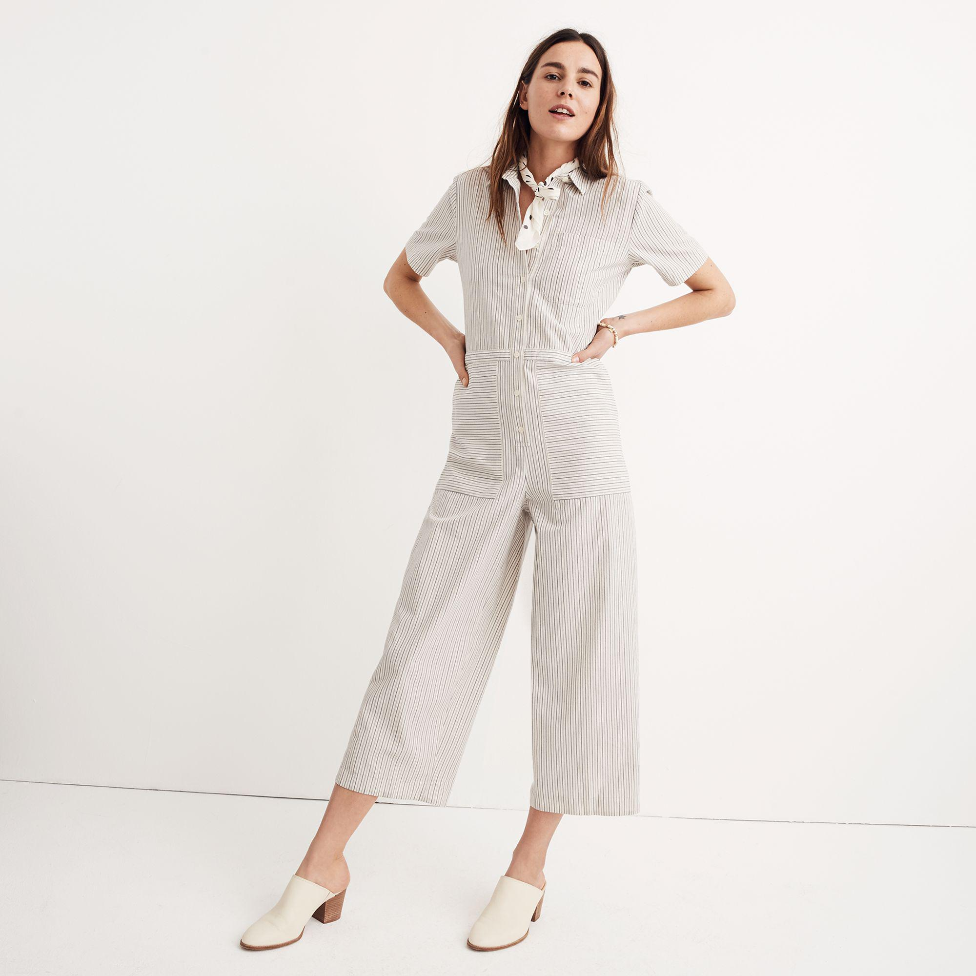 eaa31a8a238c Lyst - Madewell Striped Utility Jumpsuit