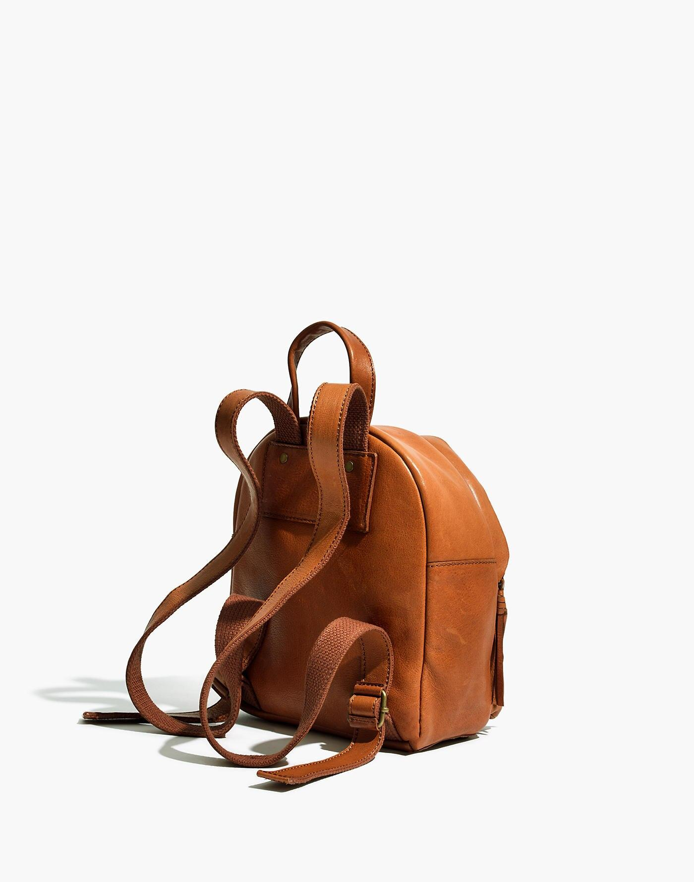 Madewell Leather The Lorimer Mini Backpack in Brown