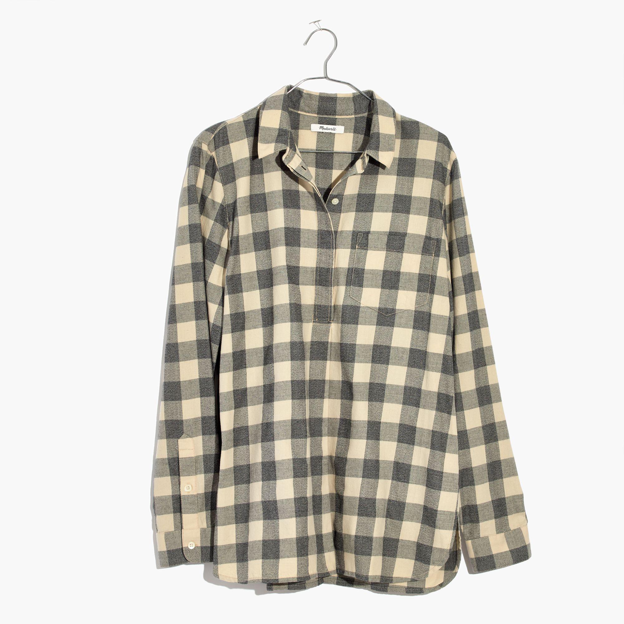 96b08982d2f Lyst - Madewell Classic Ex-boyfriend Button-back Shirt In Buffalo Check