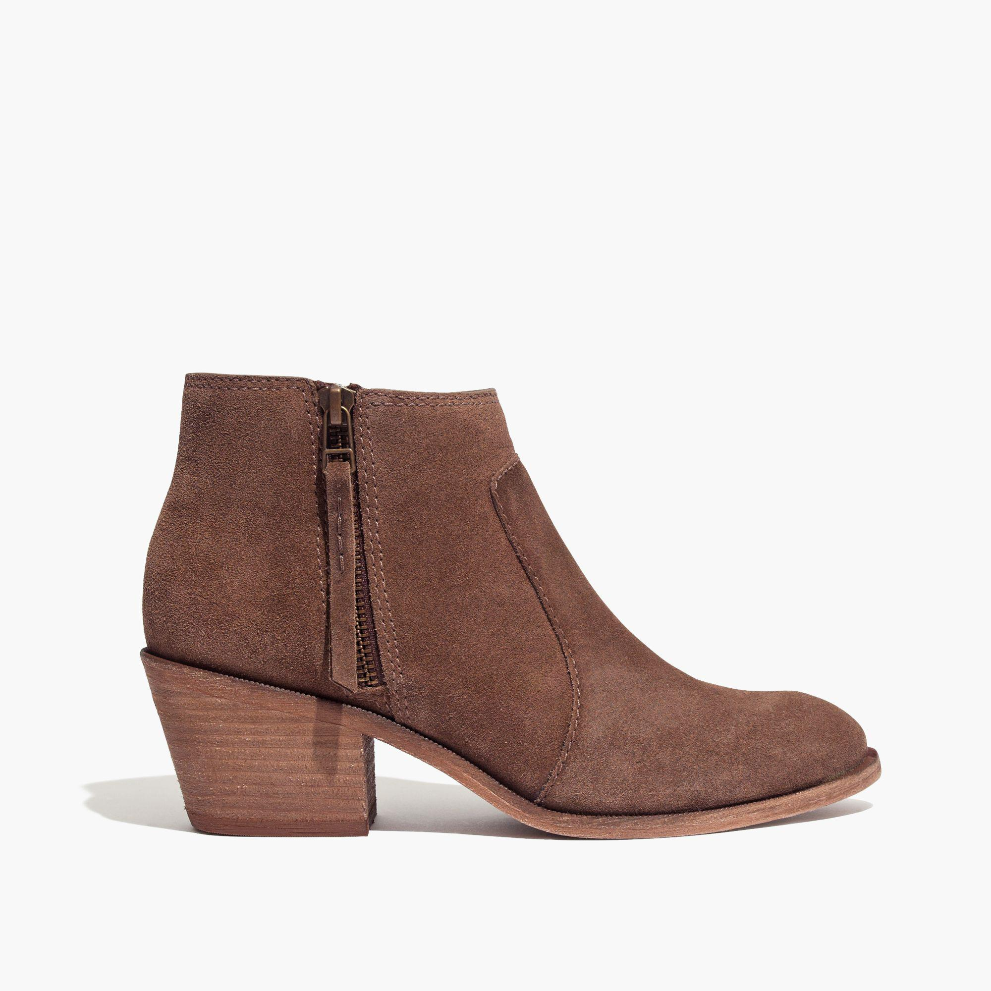 Madewell The Janice Boot In Suede