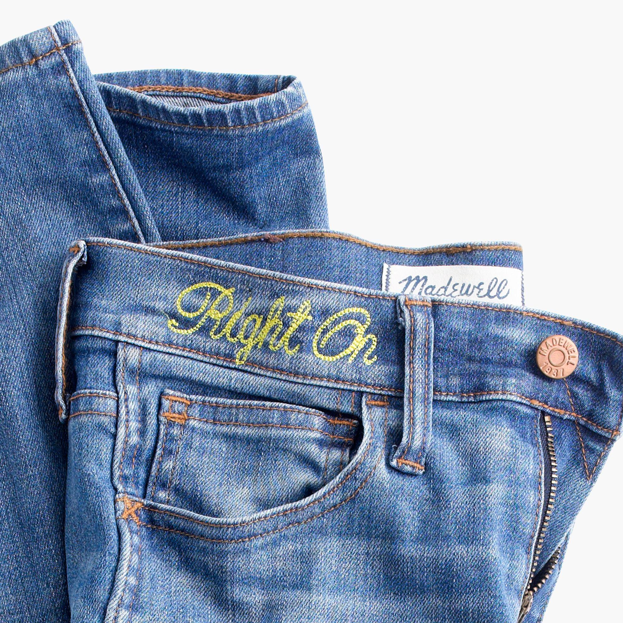 "Madewell Denim 9"" High-rise Skinny Jeans In Hammond Wash: Drop-hem Edition in Blue"