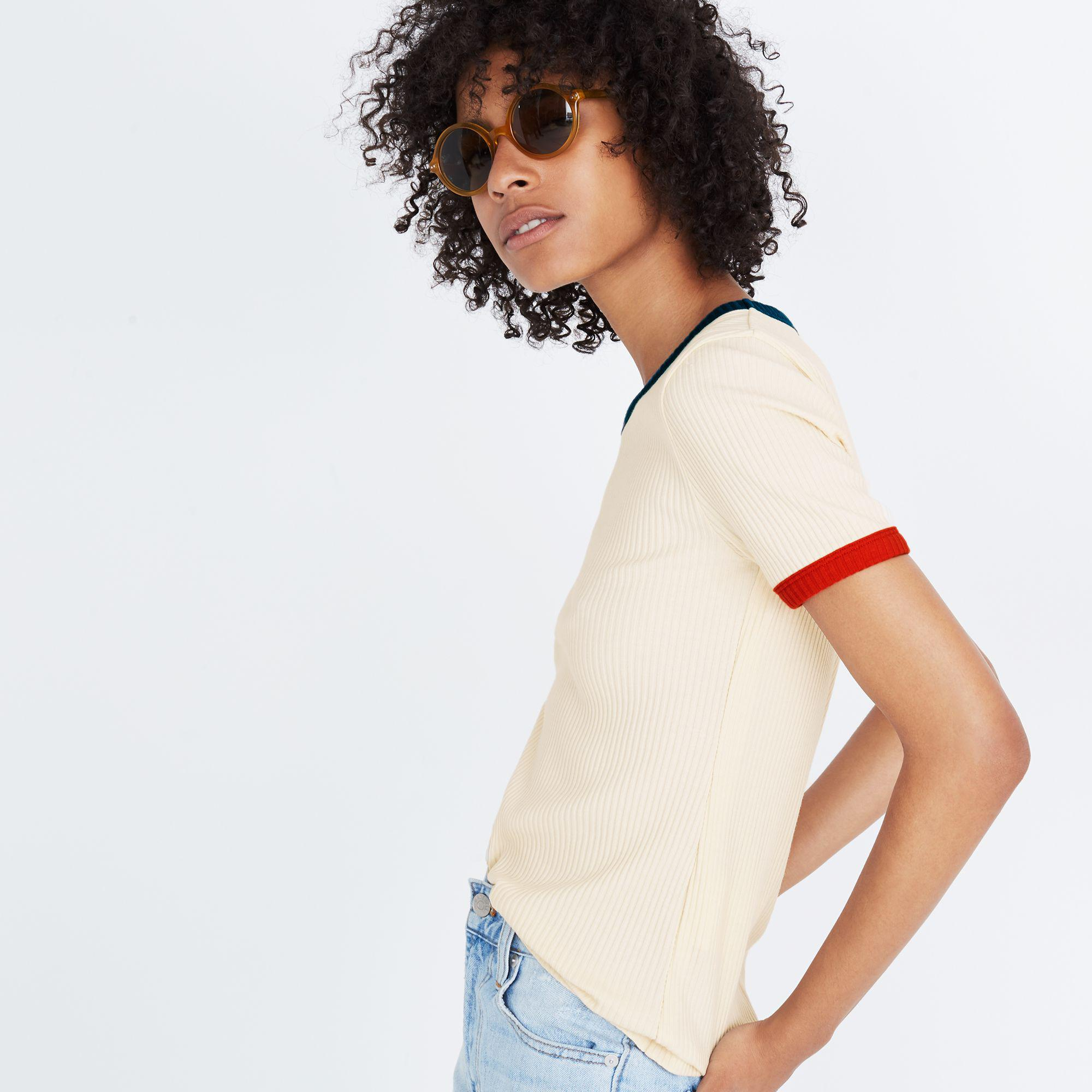 Madewell Cotton Colorblock Ringer Tee