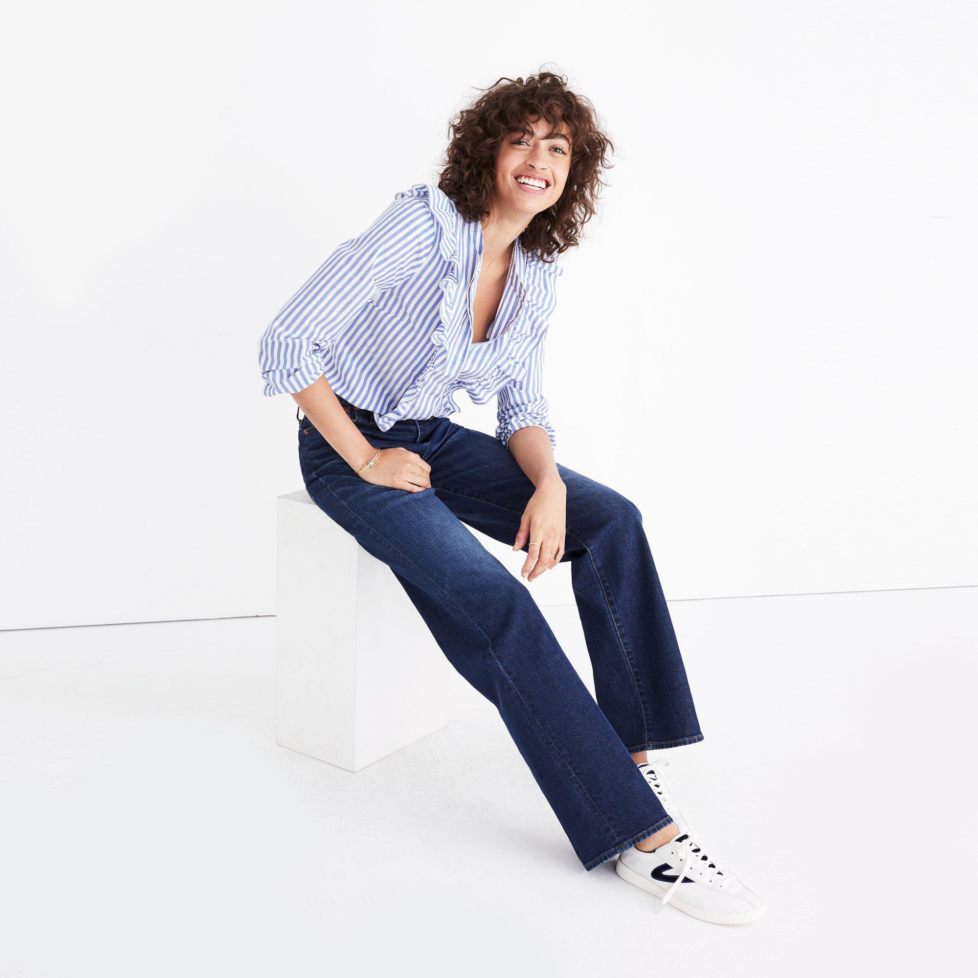 Madewell Denim Wide-leg Jeans In Dorset Wash in Blue