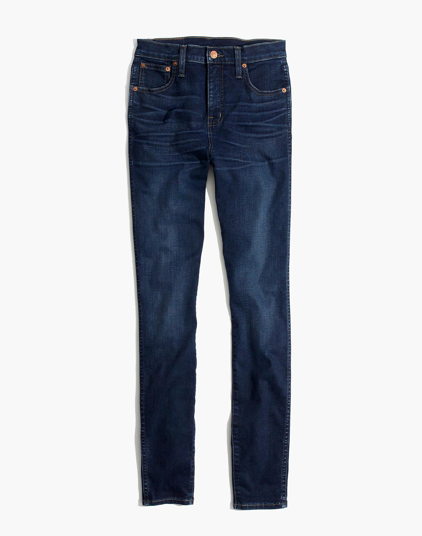 """Madewell Denim 10"""" High-rise Skinny Jeans In Hayes Wash in Blue"""