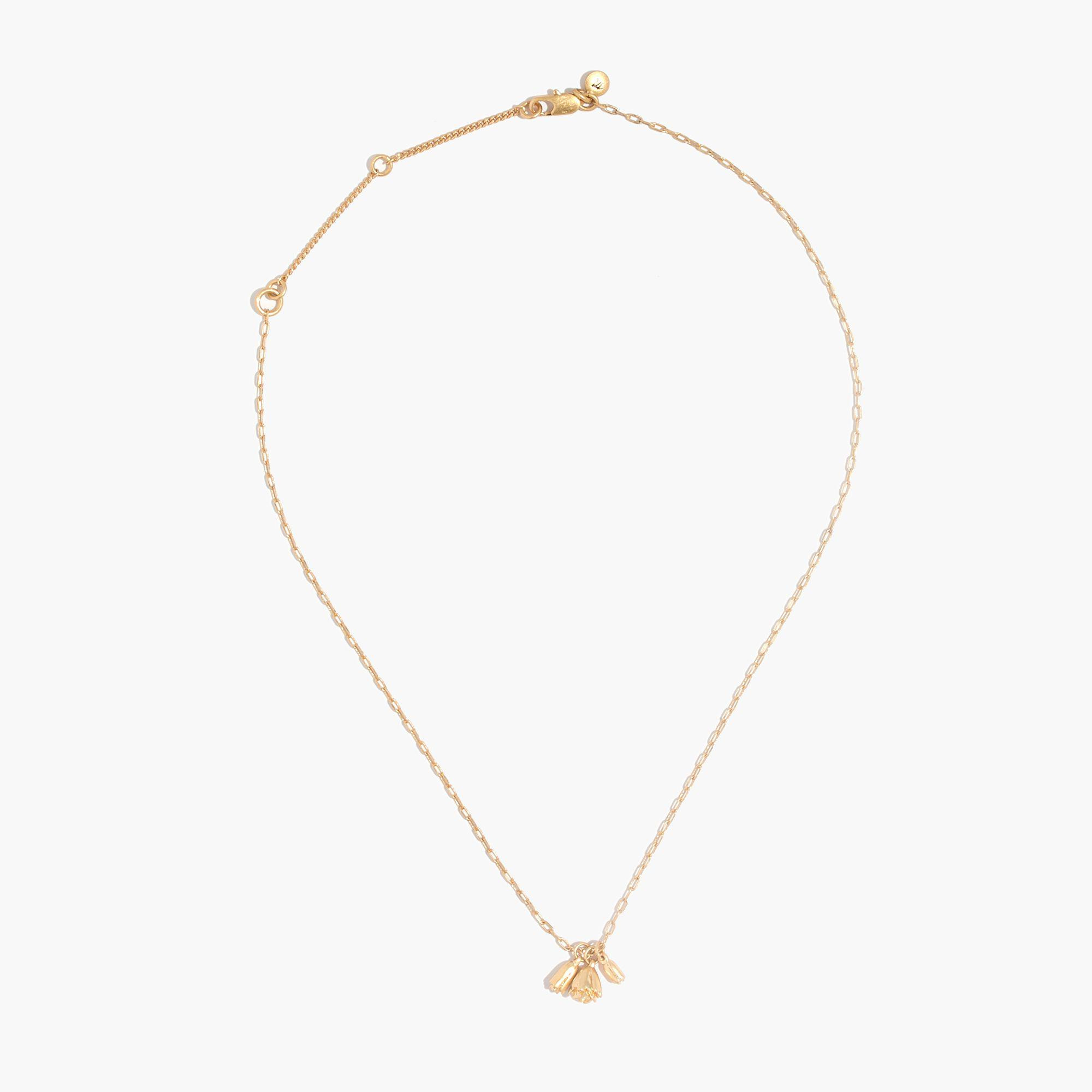 Madewell Flower Bud Necklace in Vintage Gold (Metallic)