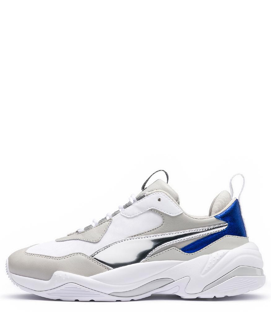 Lyst - PUMA Women s White gray Thunder Electric Sneakers in White c1551a8a8