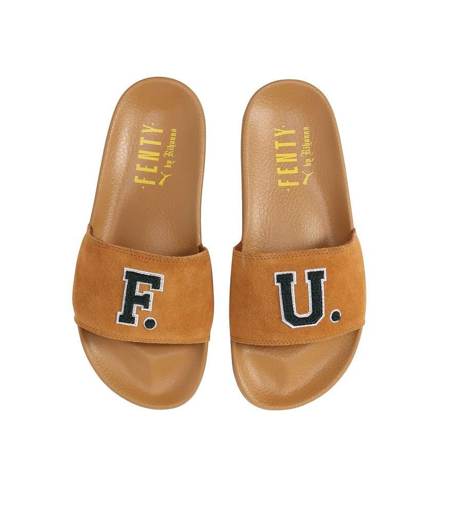 df6466bff7d2f PUMA - Women s Golden Brown Fenty Fu Leadcat Slide - Lyst. View fullscreen