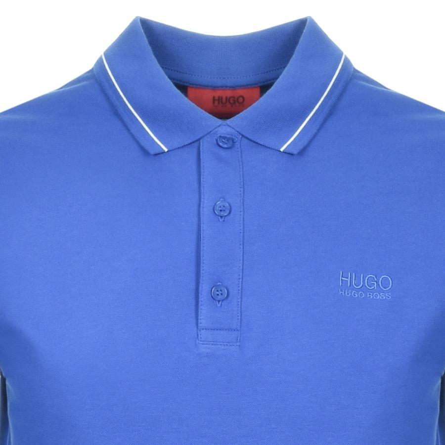09248250f HUGO - Donal Polo T Shirt Blue for Men - Lyst. View fullscreen