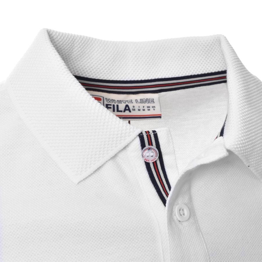 b0dccda2a Lyst - Fila Vintage Brizzi Polo T Shirt White in White for Men